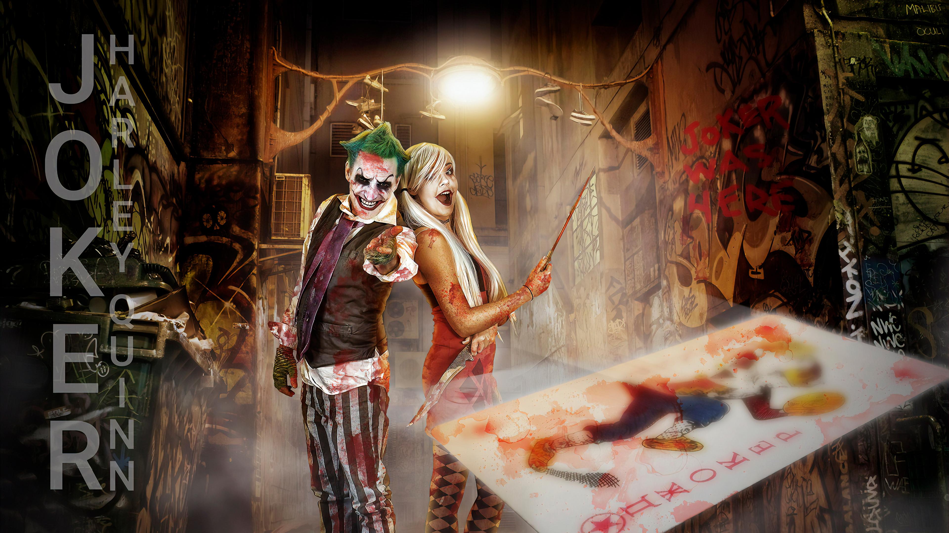 Joker And Harley Quinn Cosplay Photography 4k Hd
