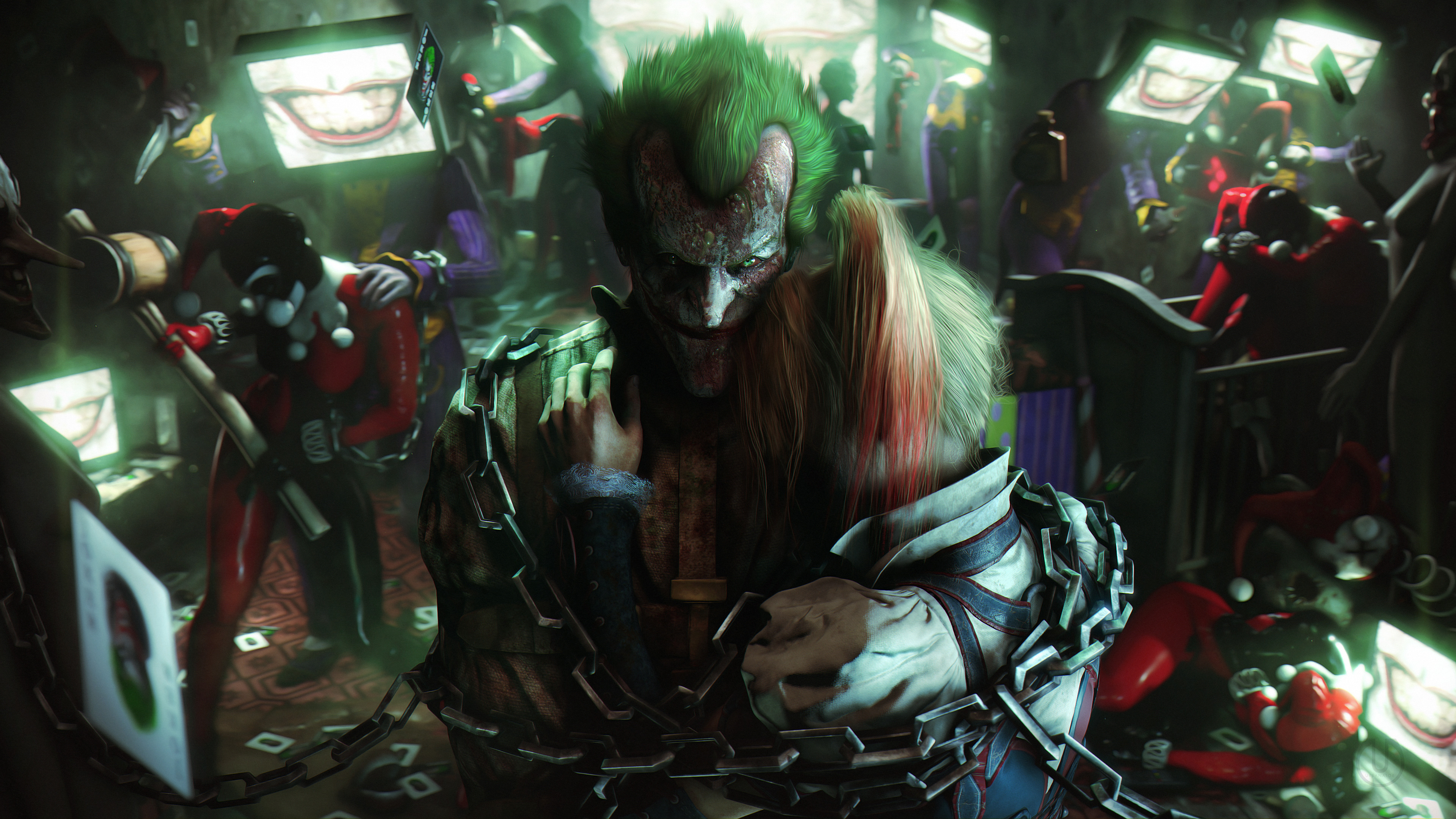 Joker And Harley Quinn Fan Art, HD Superheroes, 4k