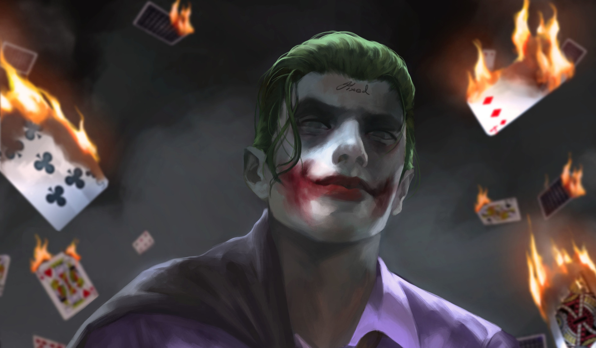 Wallpaper keren 3d hd joker for Joker immagini hd