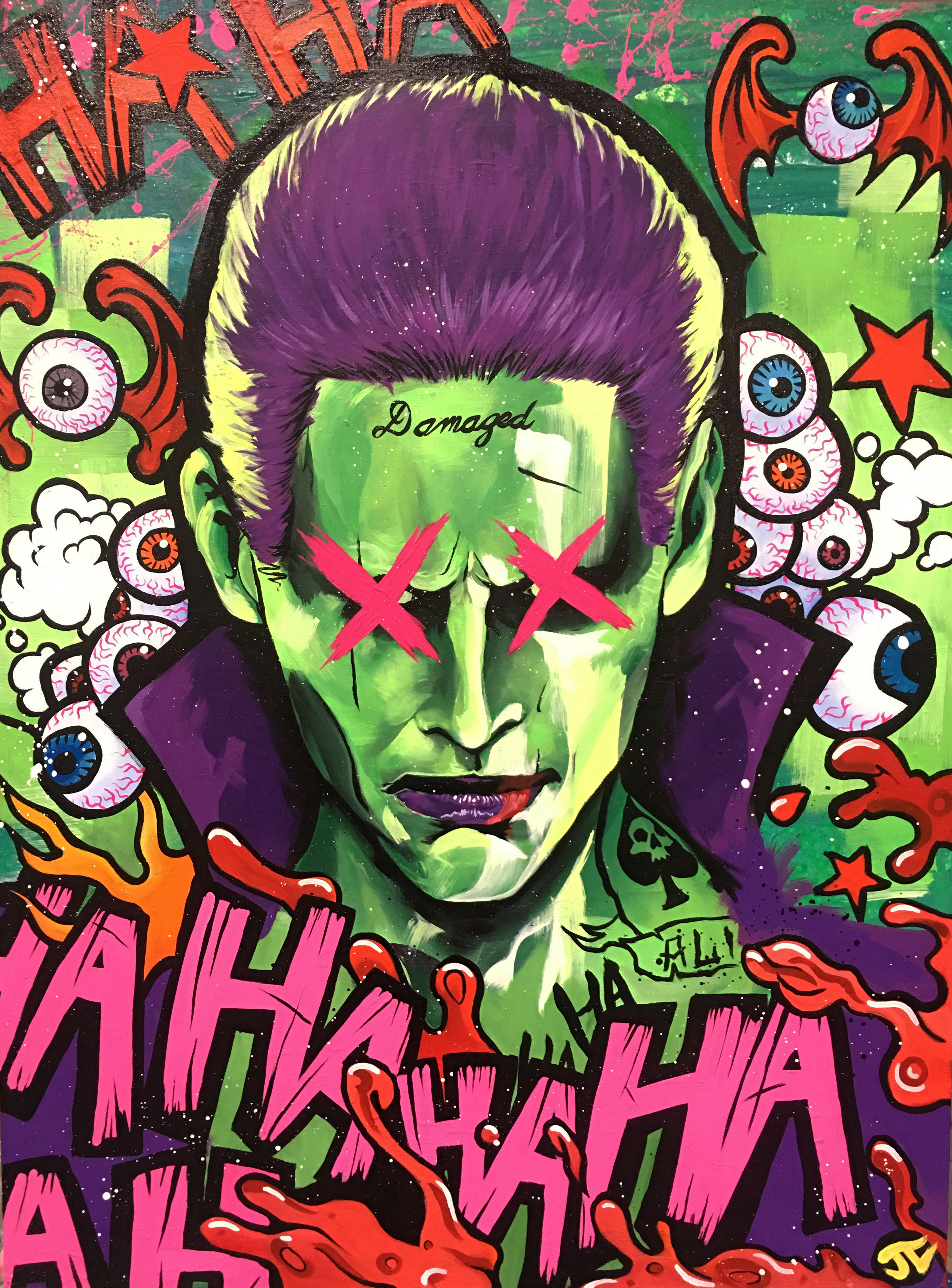 Joker Damaged Painting, HD Superheroes, 4k Wallpapers ...