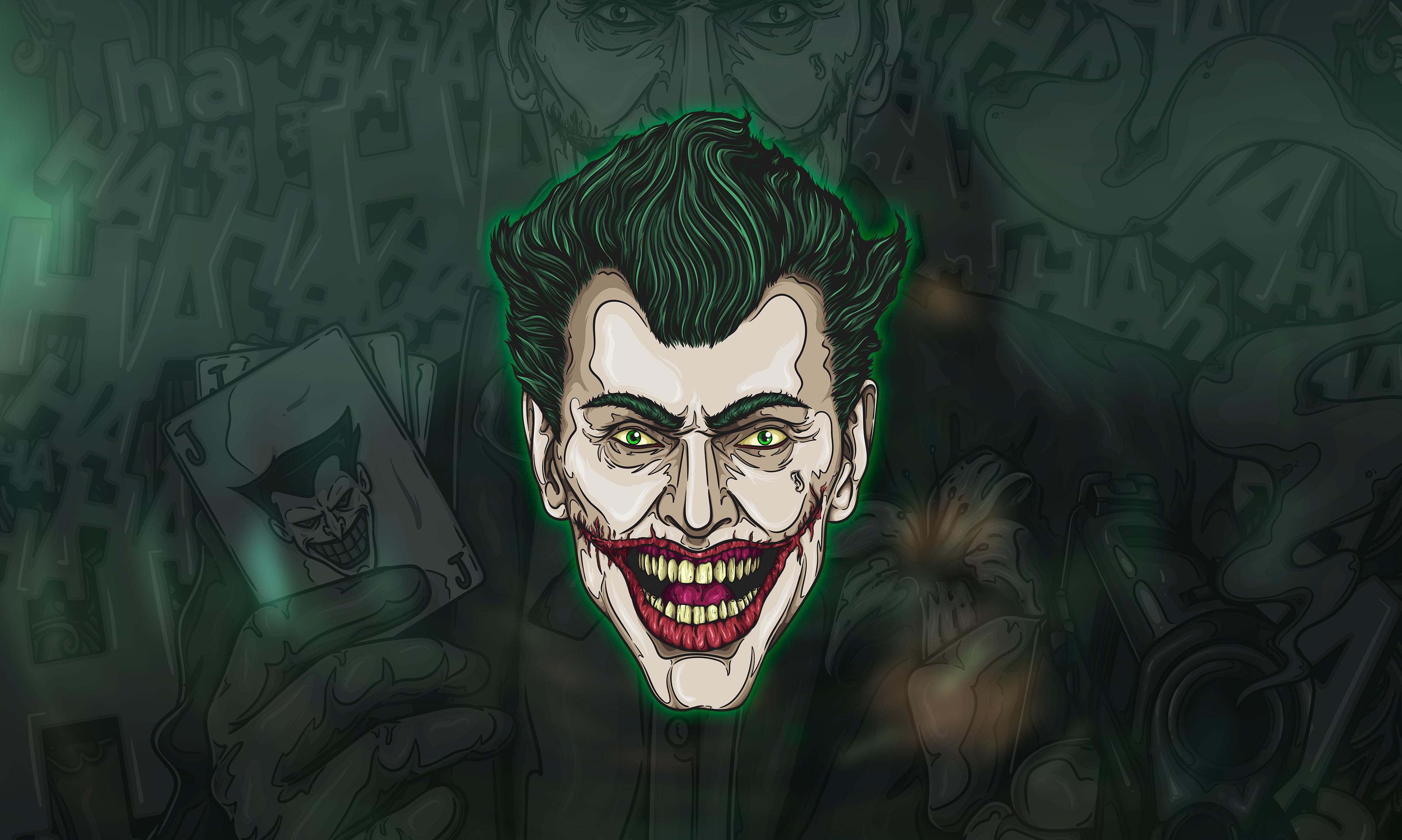 Joker Face Art HD Superheroes 4k Wallpapers Images Backgrounds