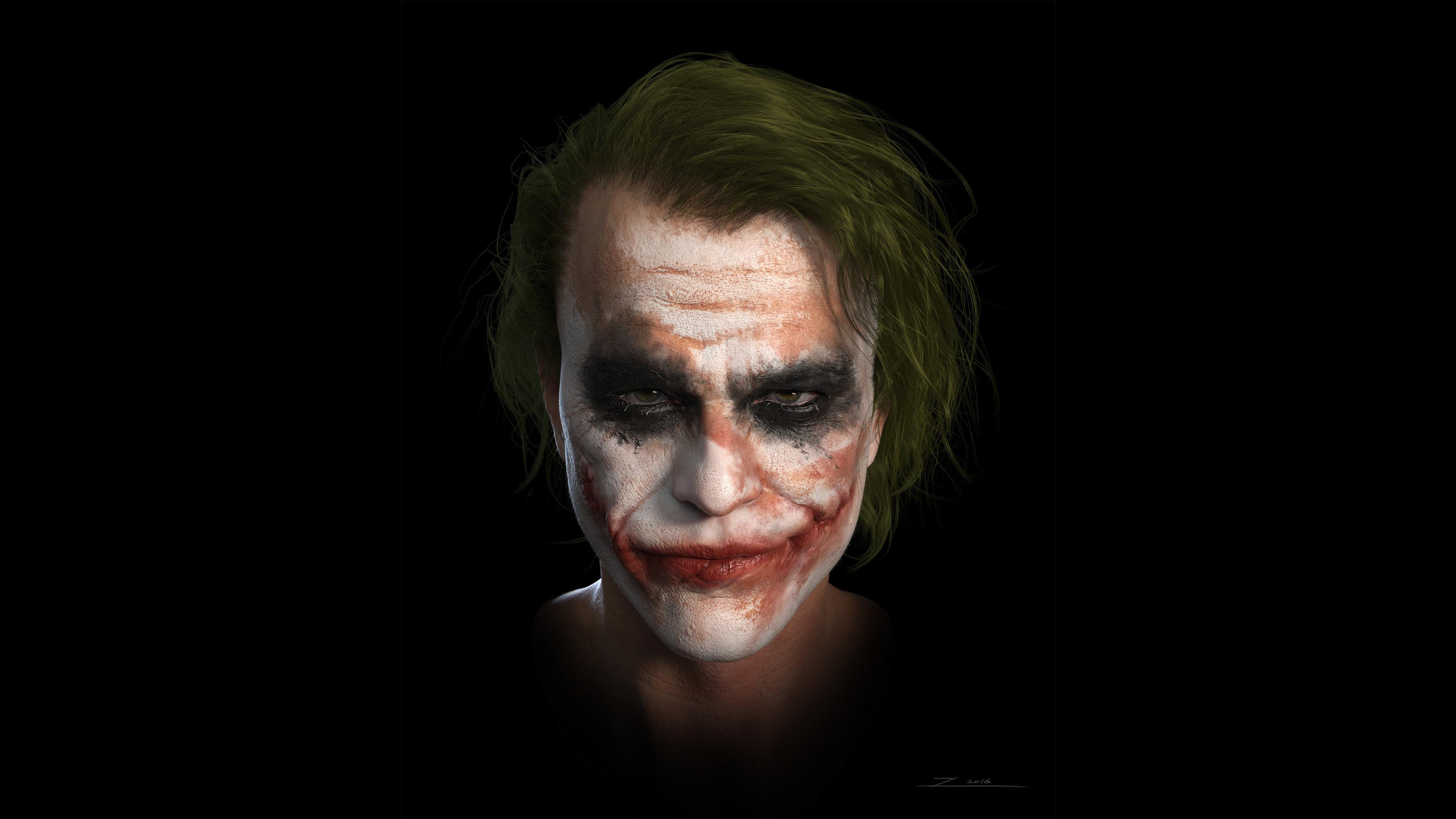 1600x1200 Joker Heath Ledger 4k Art 1600x1200 Resolution Hd