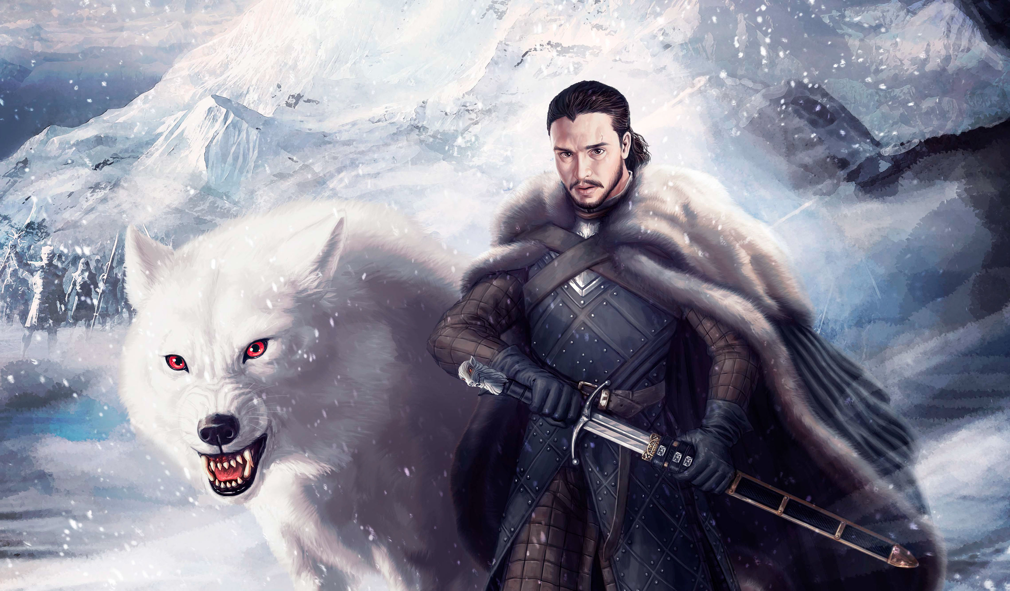 Jon Snow And Ghost 4k, HD Tv Shows, 4k Wallpapers, Images