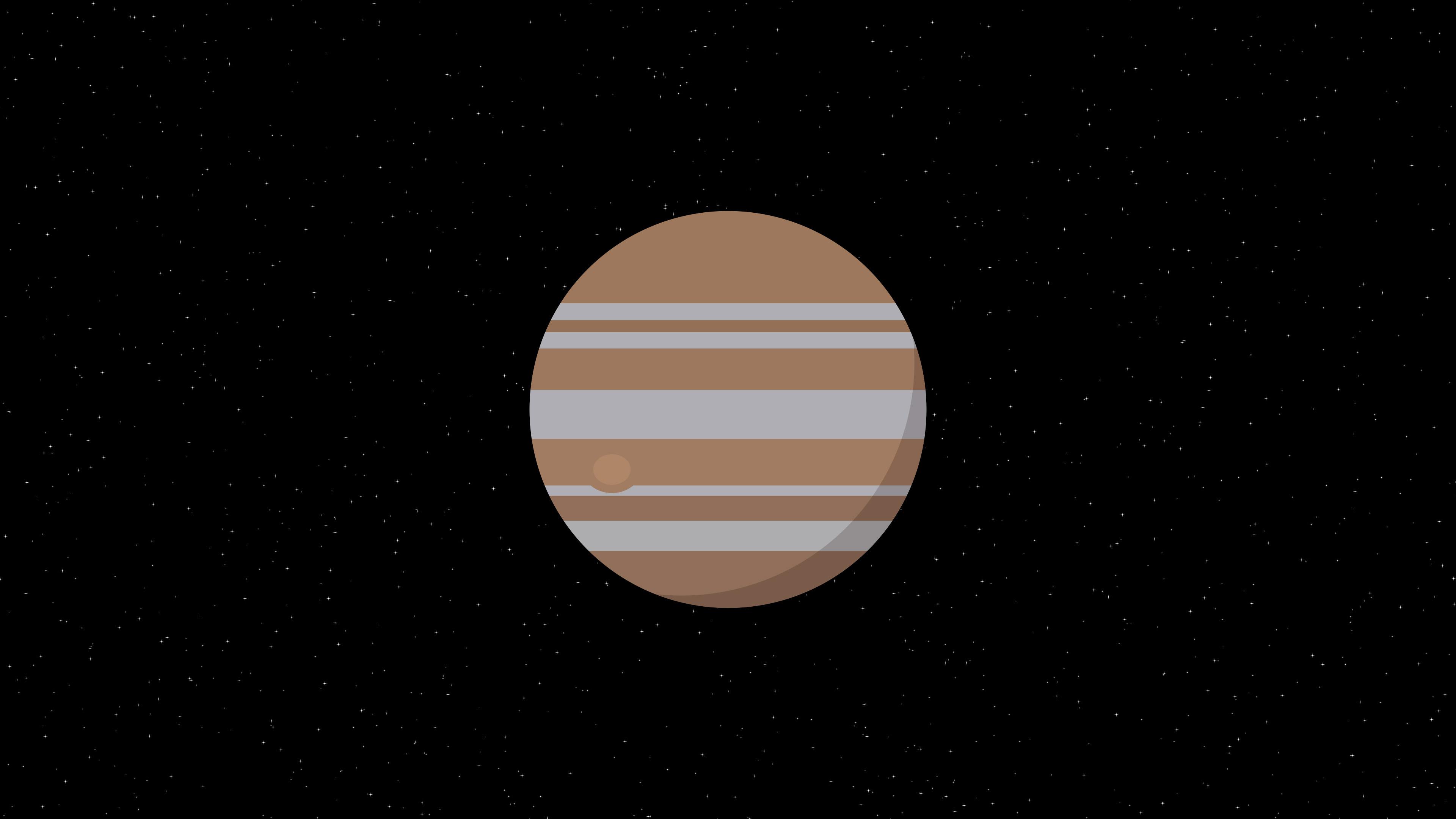 Jupiter Planet Minimalism 4k Hd Artist 4k Wallpapers