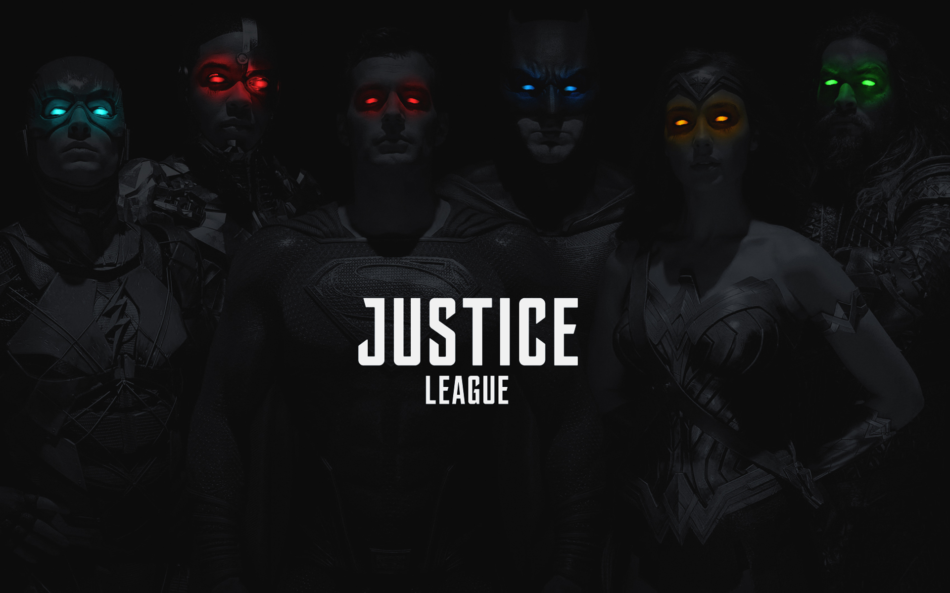 Justice League 2017 Monochrome Colored Eyes, HD Movies, 4k