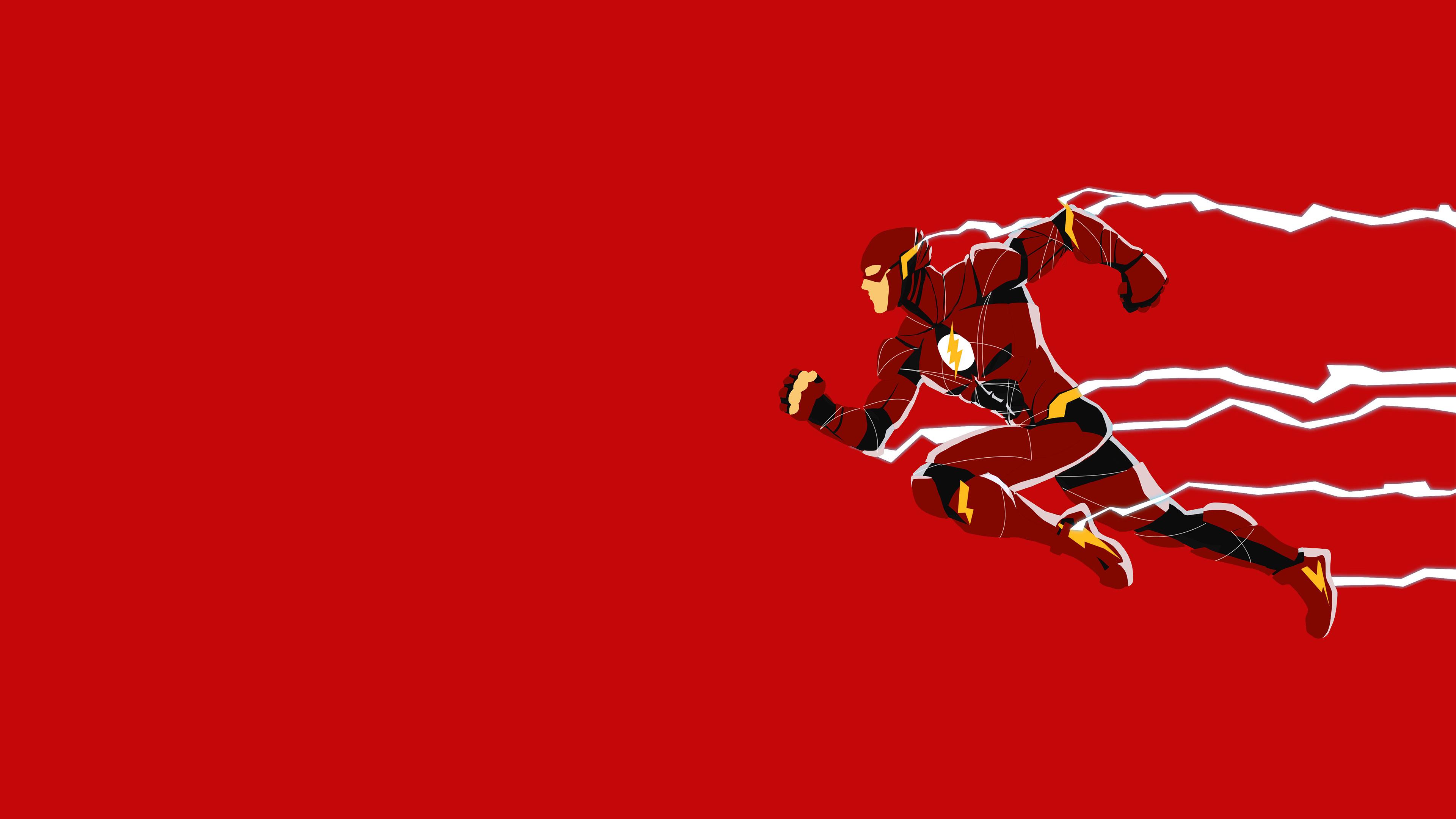 Justice League Flash Minimalism, HD Superheroes, 4k ...