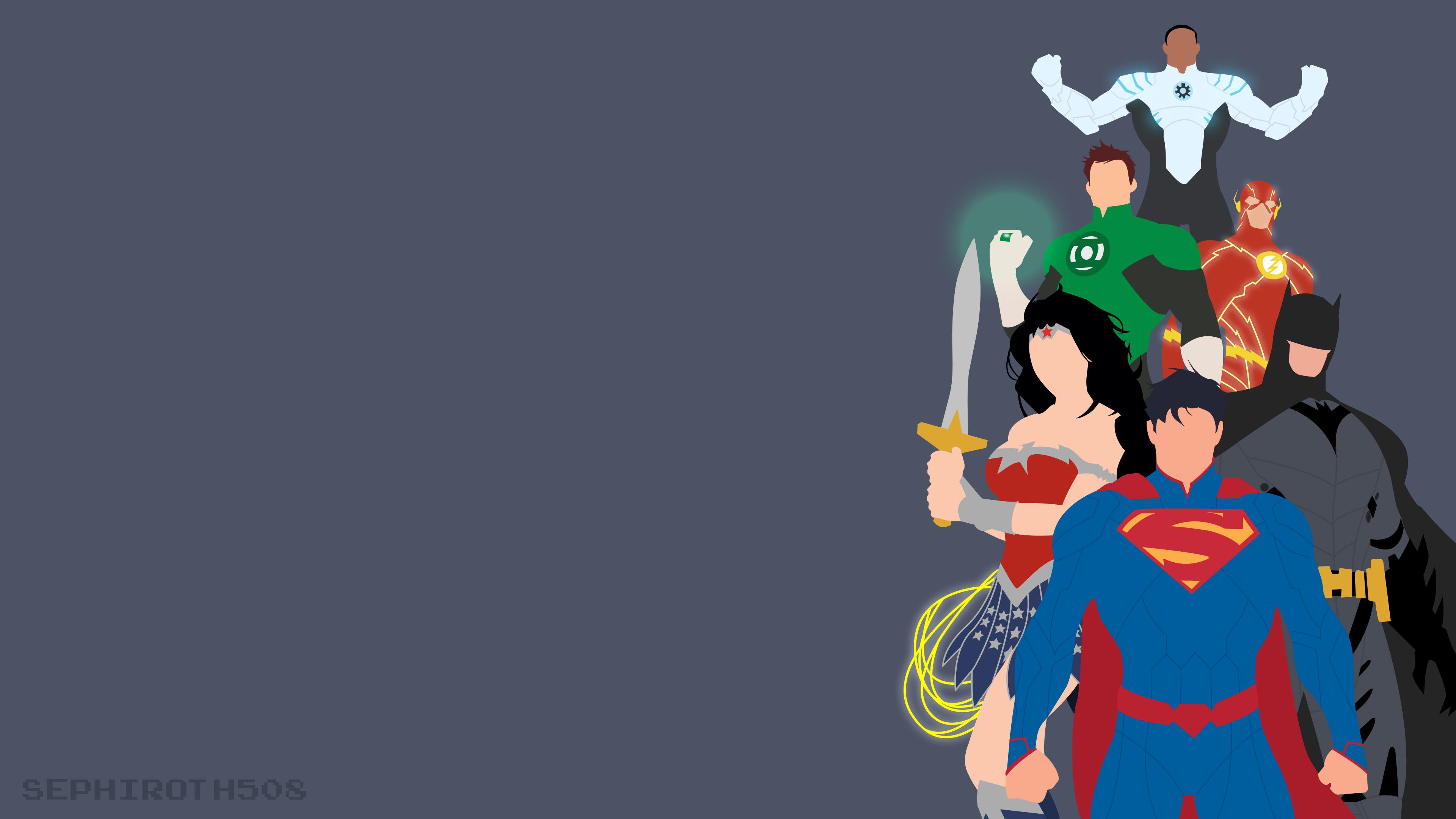 Justice League Minimalist HD Superheroes 4k Wallpapers Images