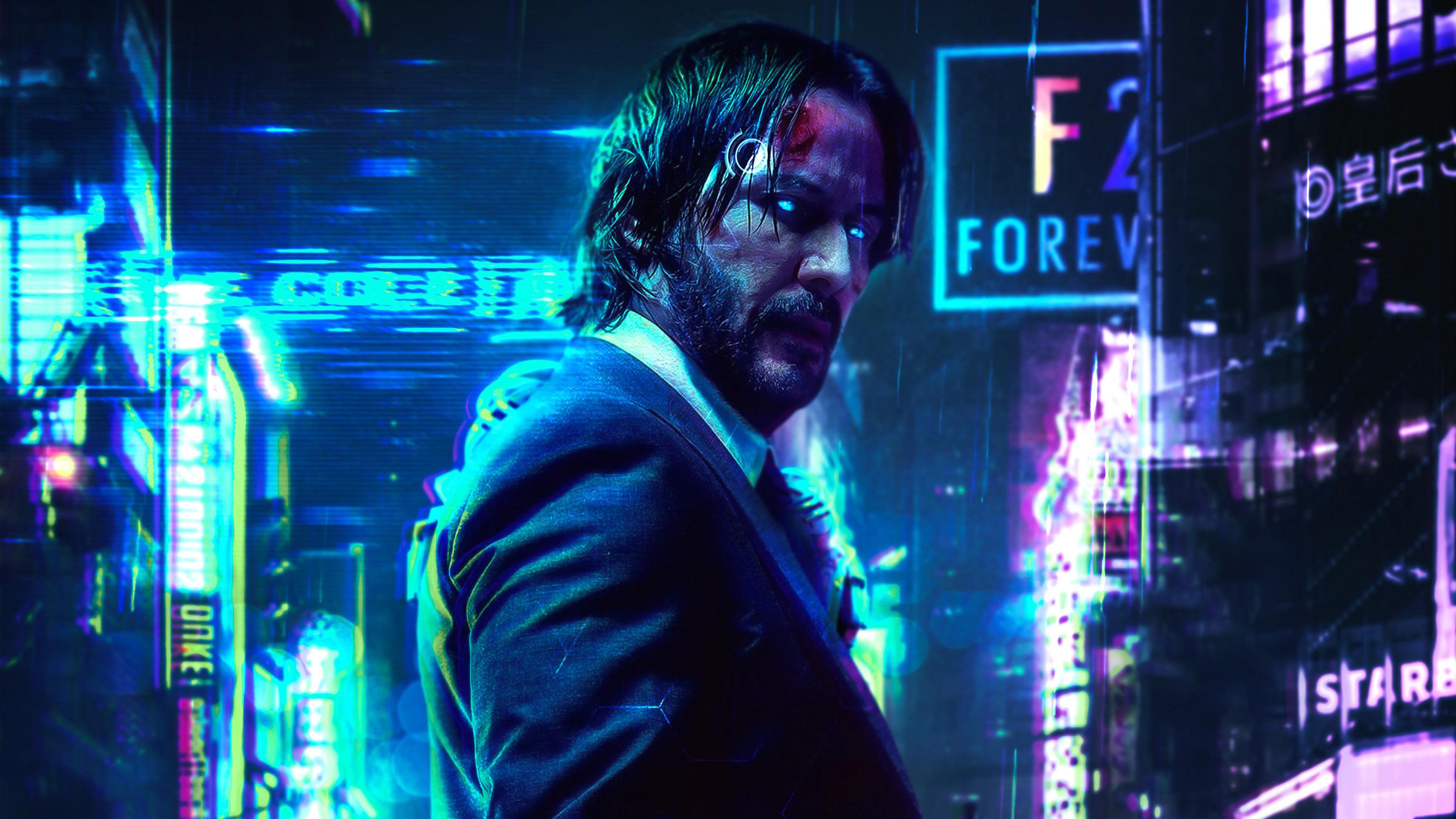 Keanu reeves cyberpunk 2077 fanart hd games 4k - Cyberpunk 2077 wallpaper 4k ...