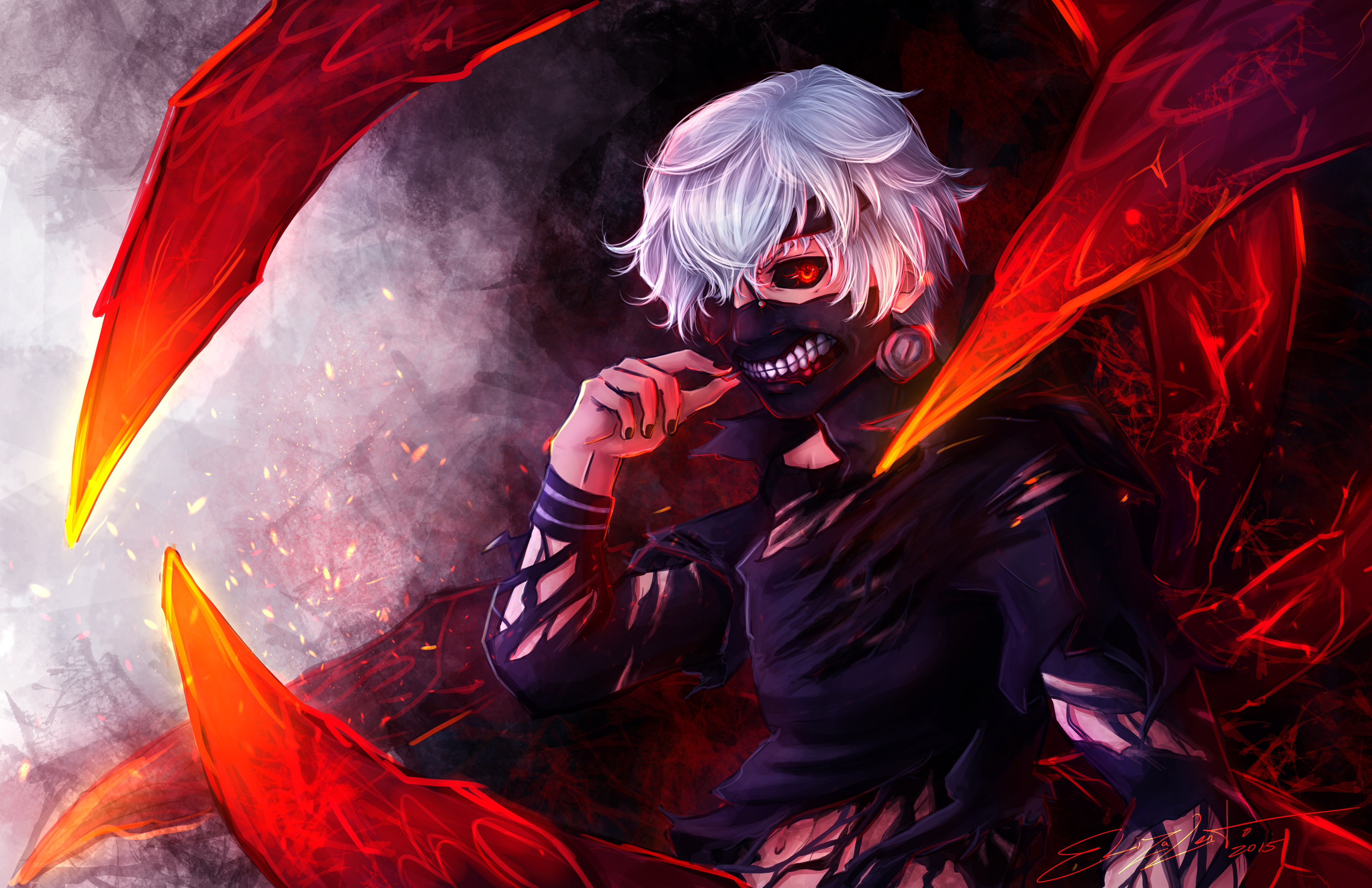Ken kaneki tokyo ghoul 5k hd anime 4k wallpapers images - 5k anime wallpaper ...