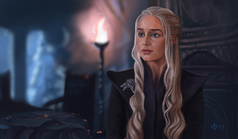 1600x1200 Khaleesi Game Of Thrones 5k Artwork 1600x1200