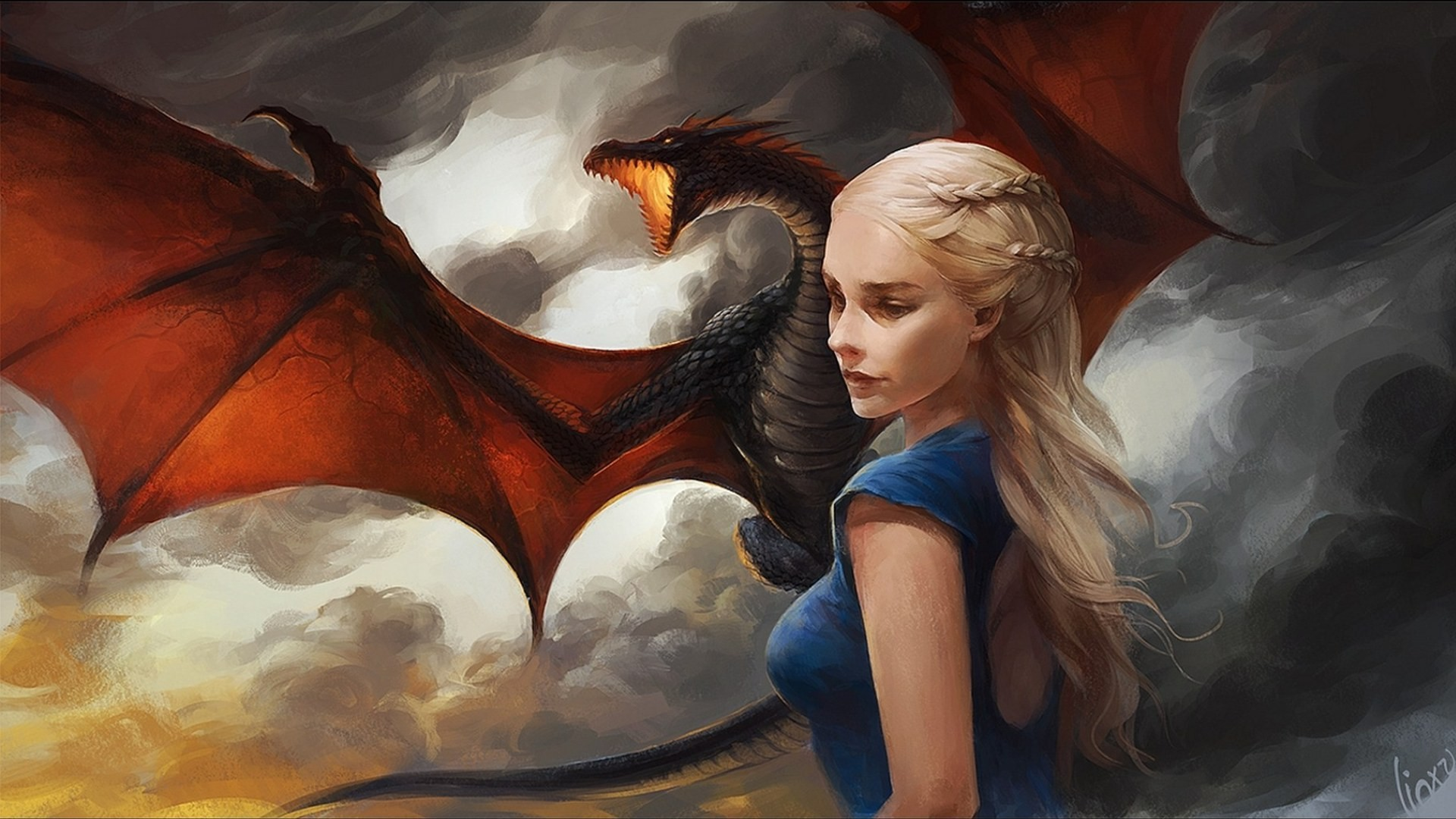 Khaleesi Game Of Thrones With Dragon Artwork, HD Tv Shows