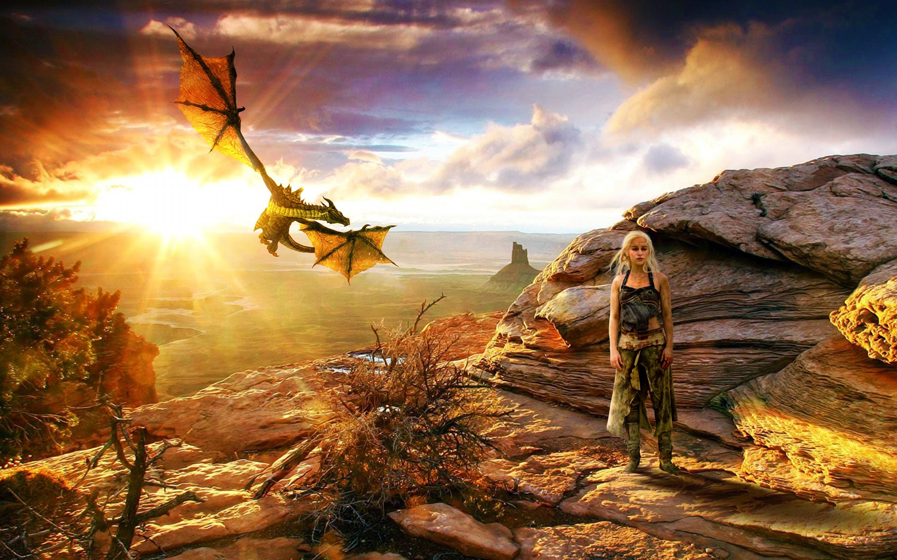 Khaleesi With Dragon Game Of Thrones