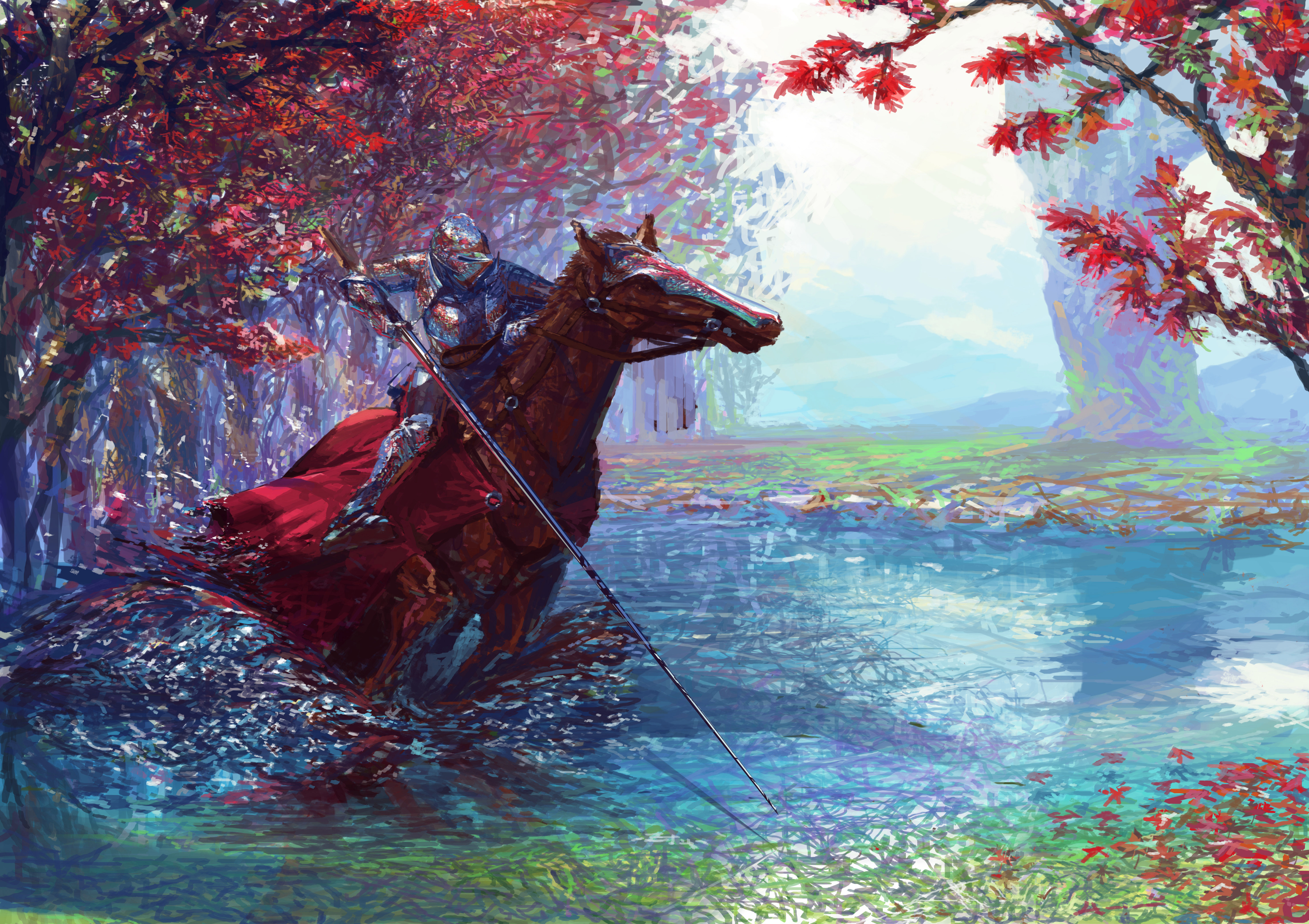 Knight On Horse With Sword 5k, HD Artist, 4k Wallpapers, Images, Backgrounds, Photos ...  Knight