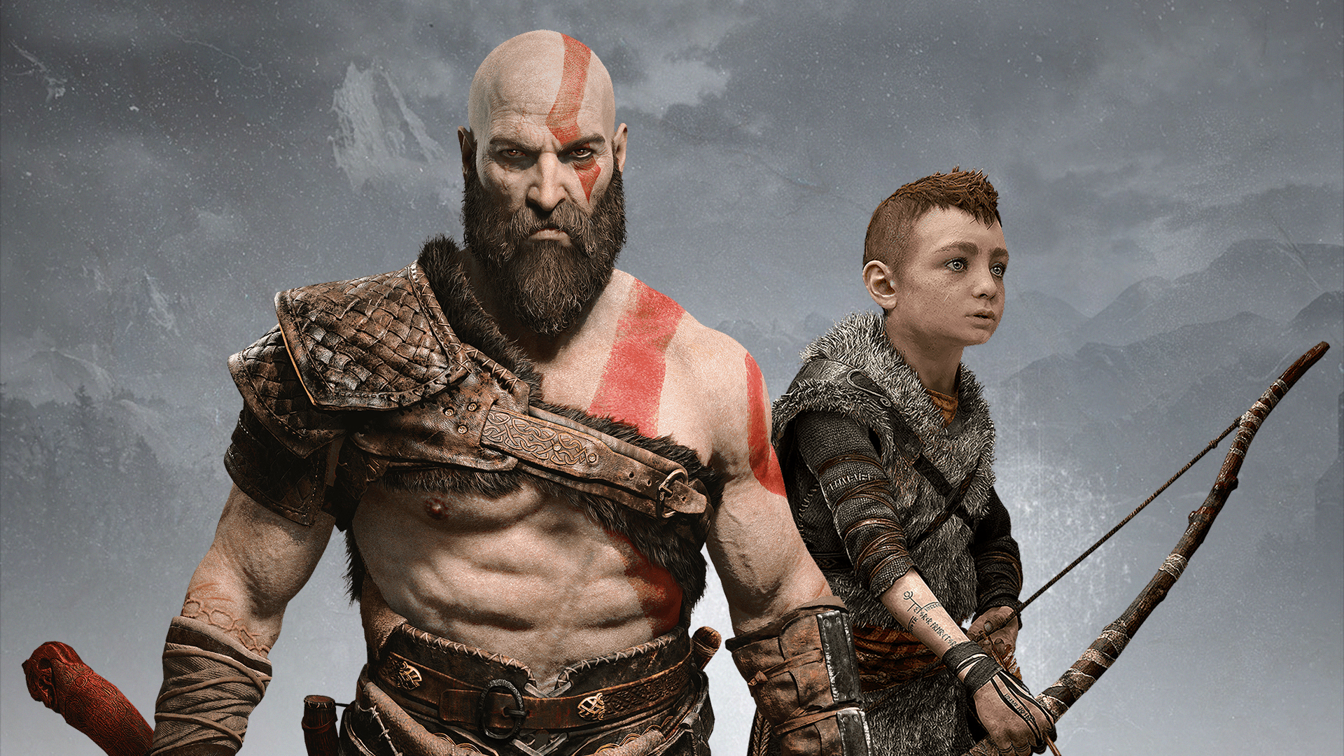 kratos and atreus, hd games, 4k wallpapers, images, backgrounds