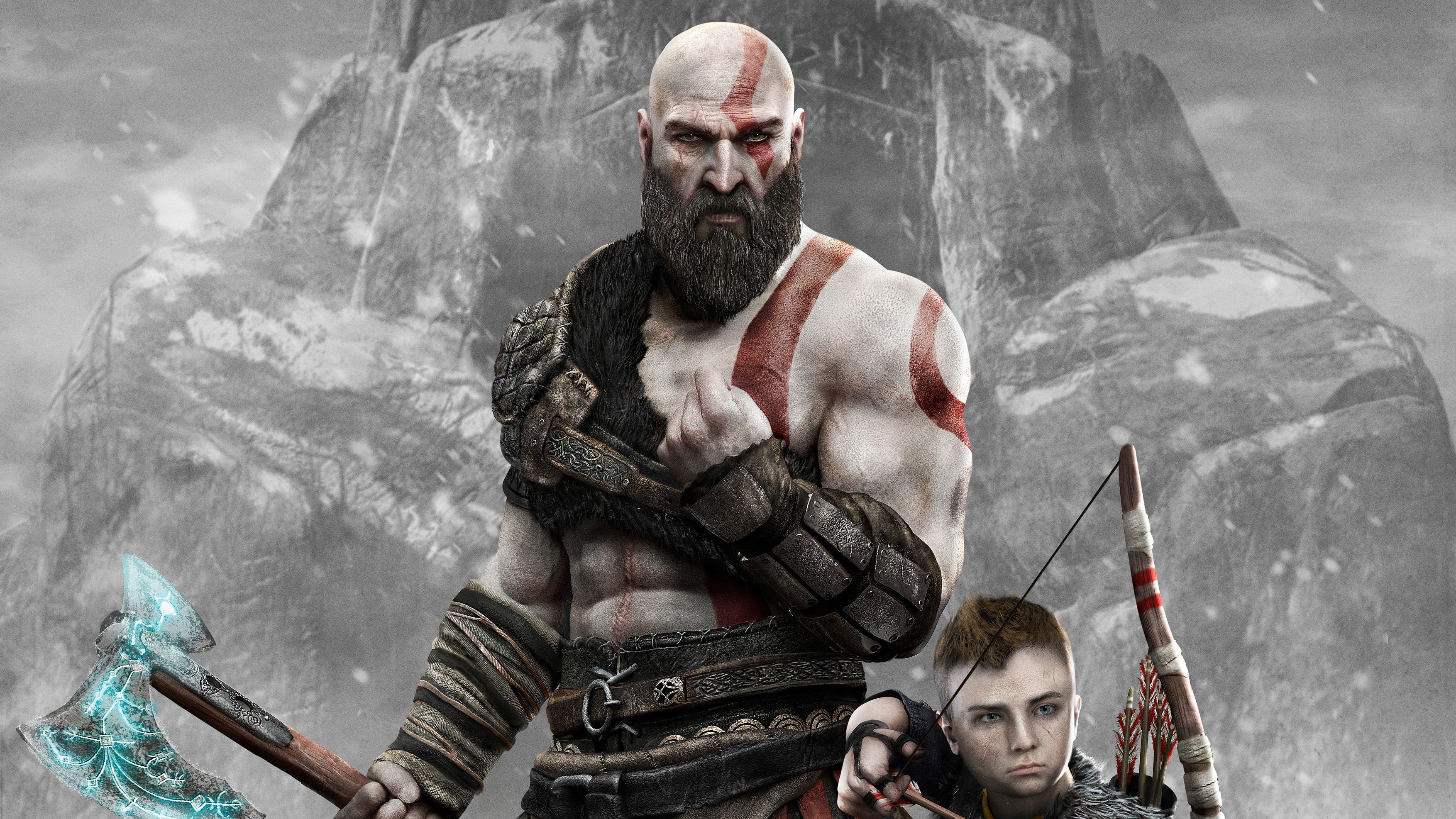 1280x768 Kratos And Atreus God Of War 4 4k 2018 1280x768
