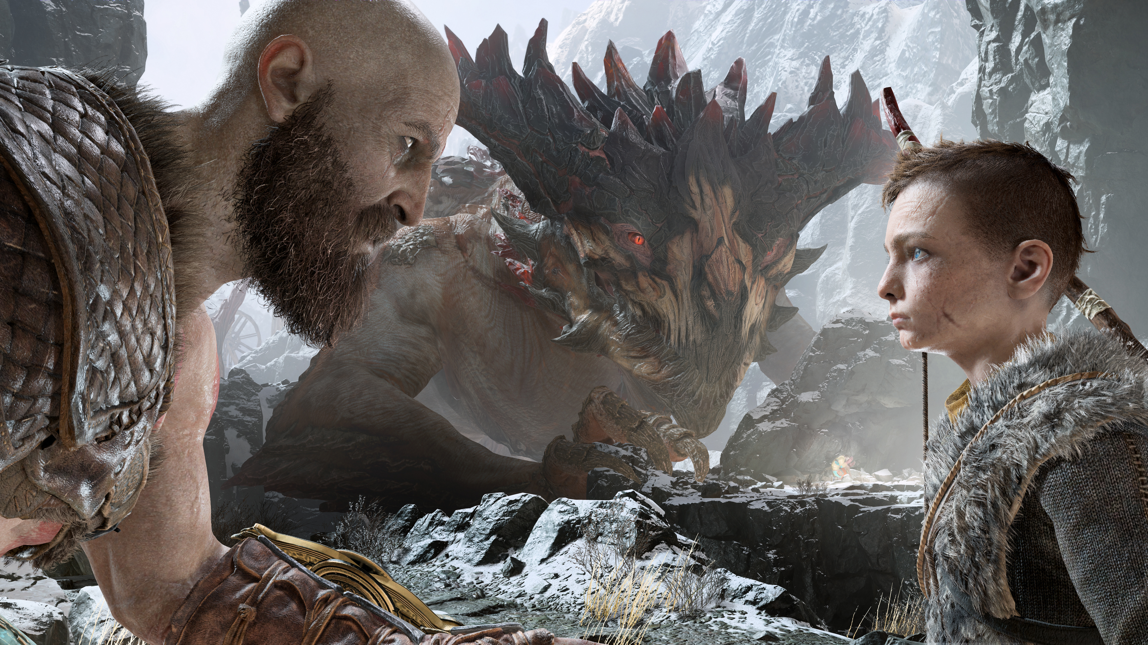 Kratos and atreus god of war 4 4k hd games 4k wallpapers - 4k wallpaper of god ...