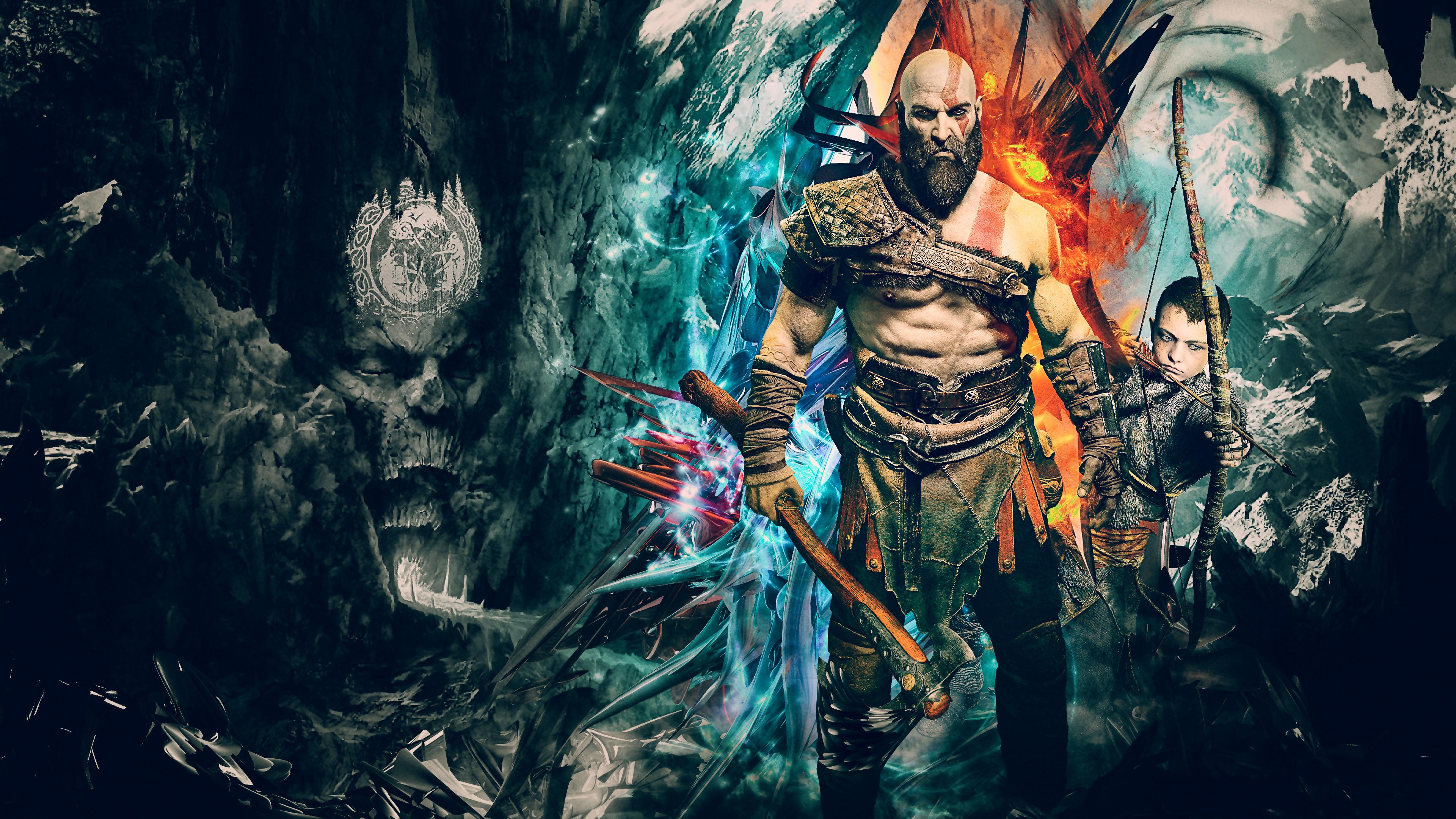 1920x1080 kratos god of war 4k artwork laptop full hd 1080p hd 4k wallpapers images - God of war wallpaper hd 3d ...