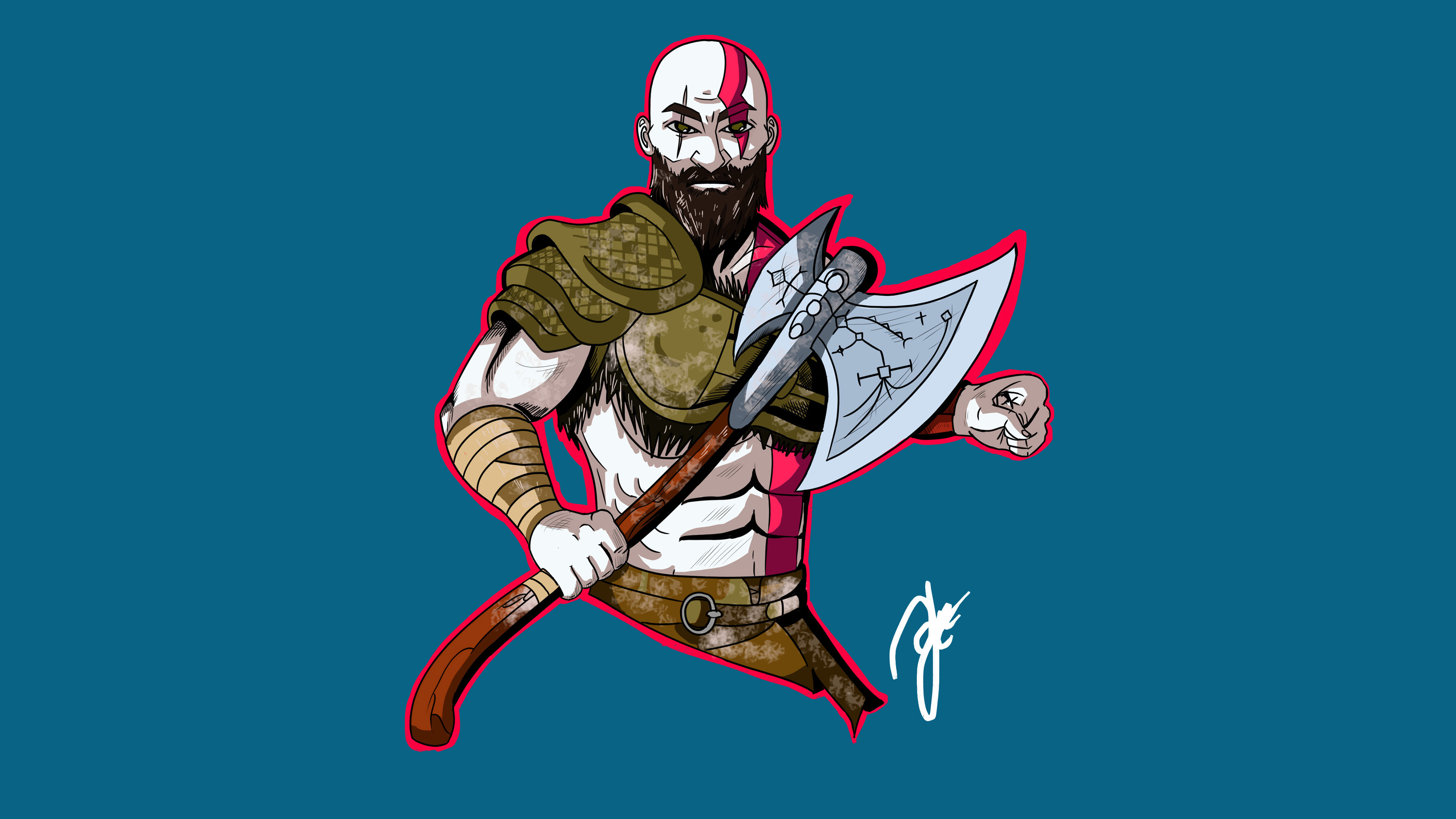 Kratos god of war artwork 4k hd games 4k wallpapers - 4k wallpaper of god ...