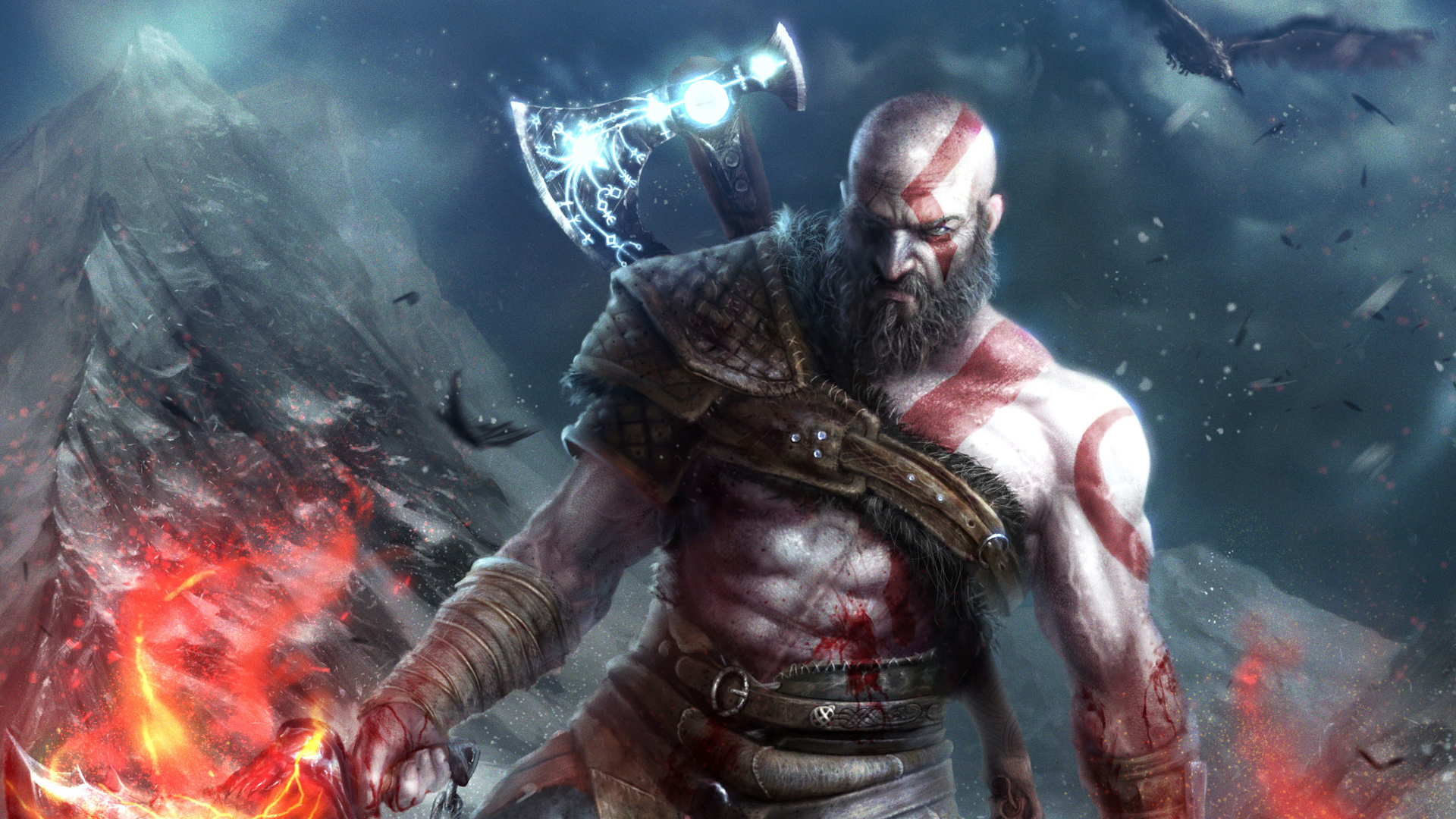 1920x1080 kratos in god of war laptop full hd 1080p hd 4k - 4k wallpaper of god ...