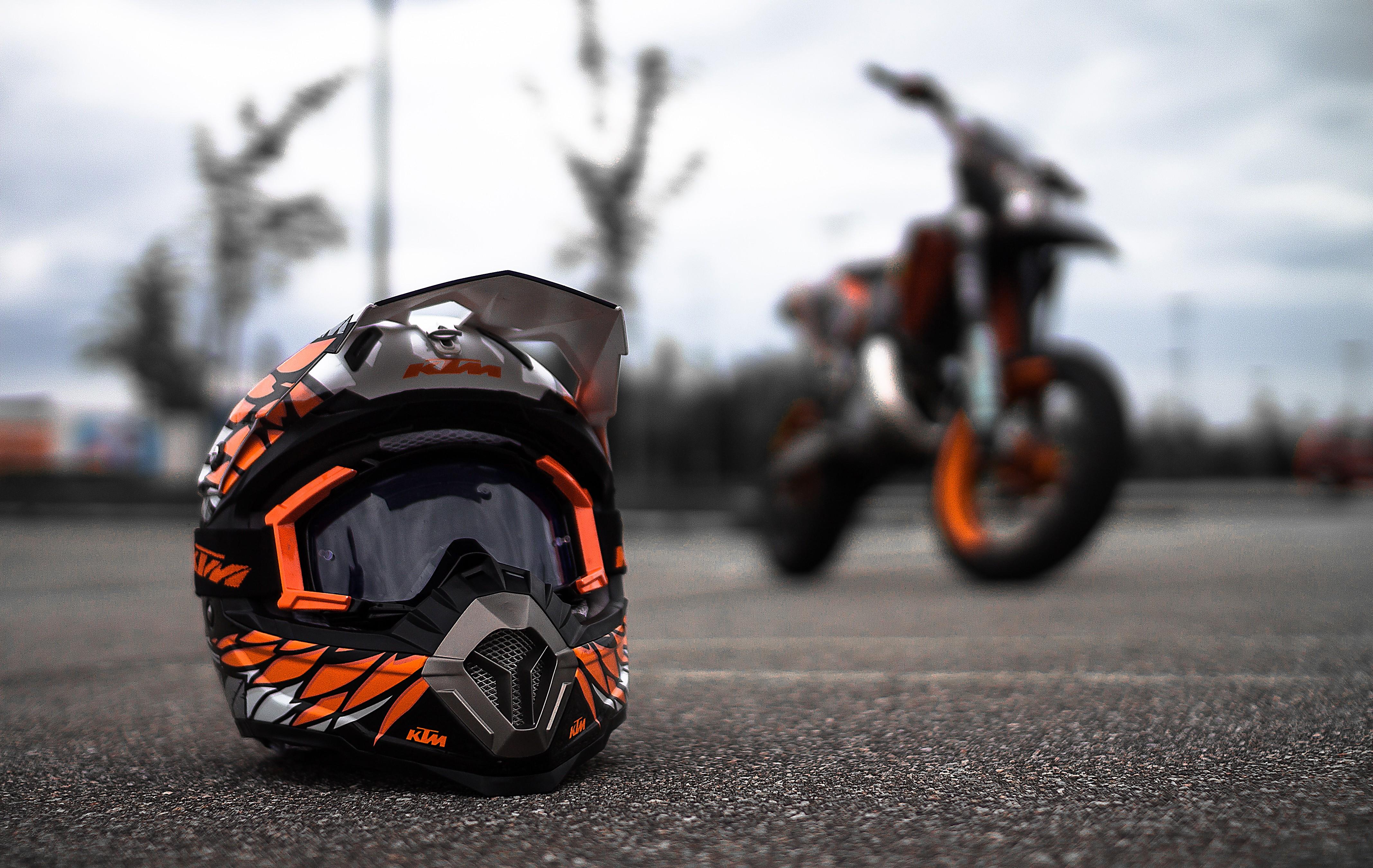 ktm helmet hd bikes 4k wallpapers images backgrounds