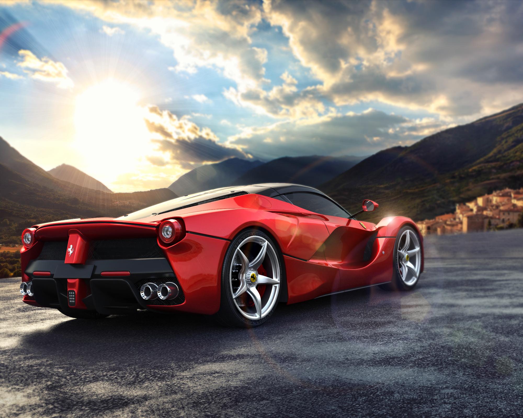 Ferrari Race Cars Hd Desktop Wallpaper