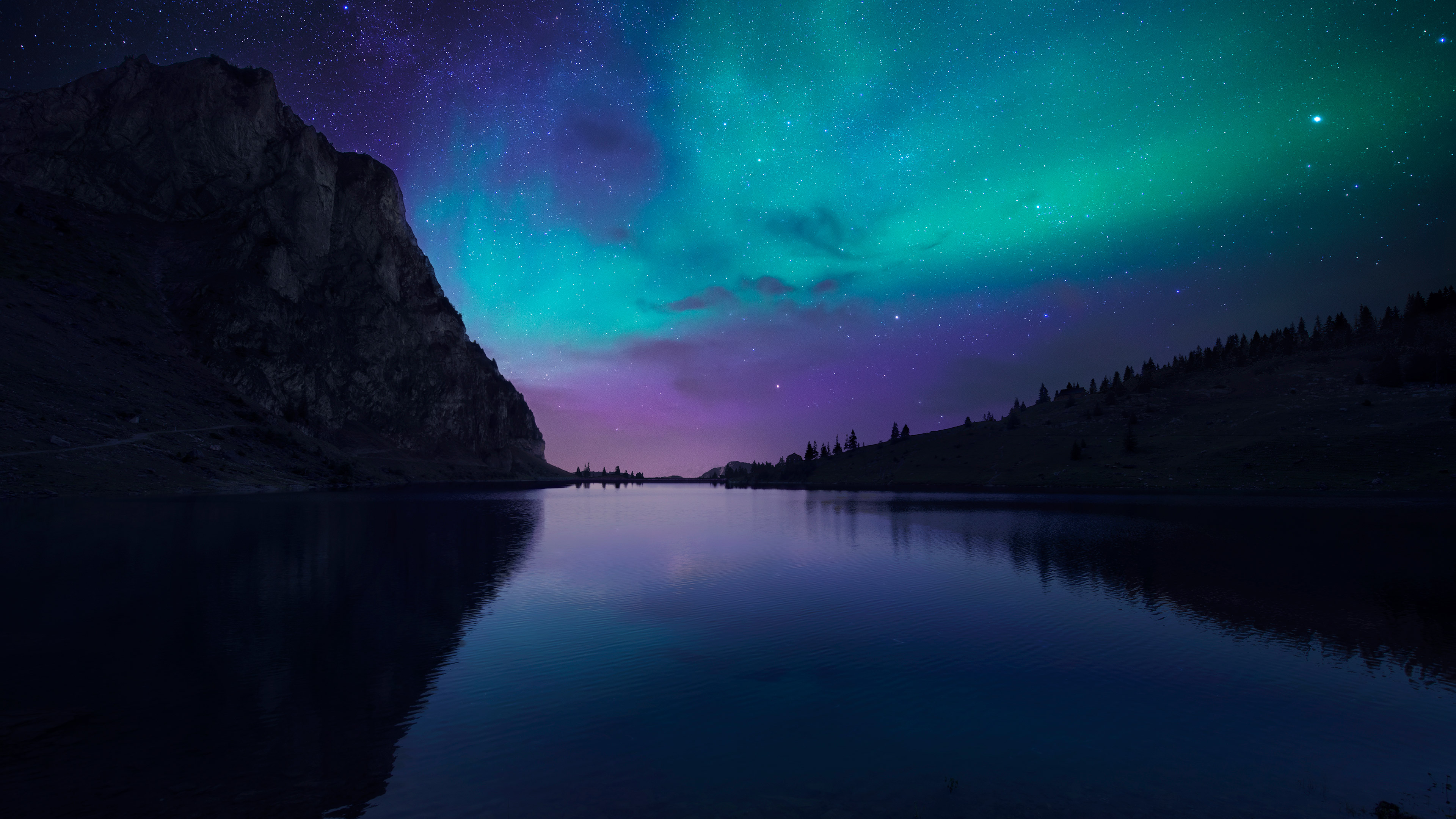 Lake Aurora, HD Nature, 4k Wallpapers, Images, Backgrounds