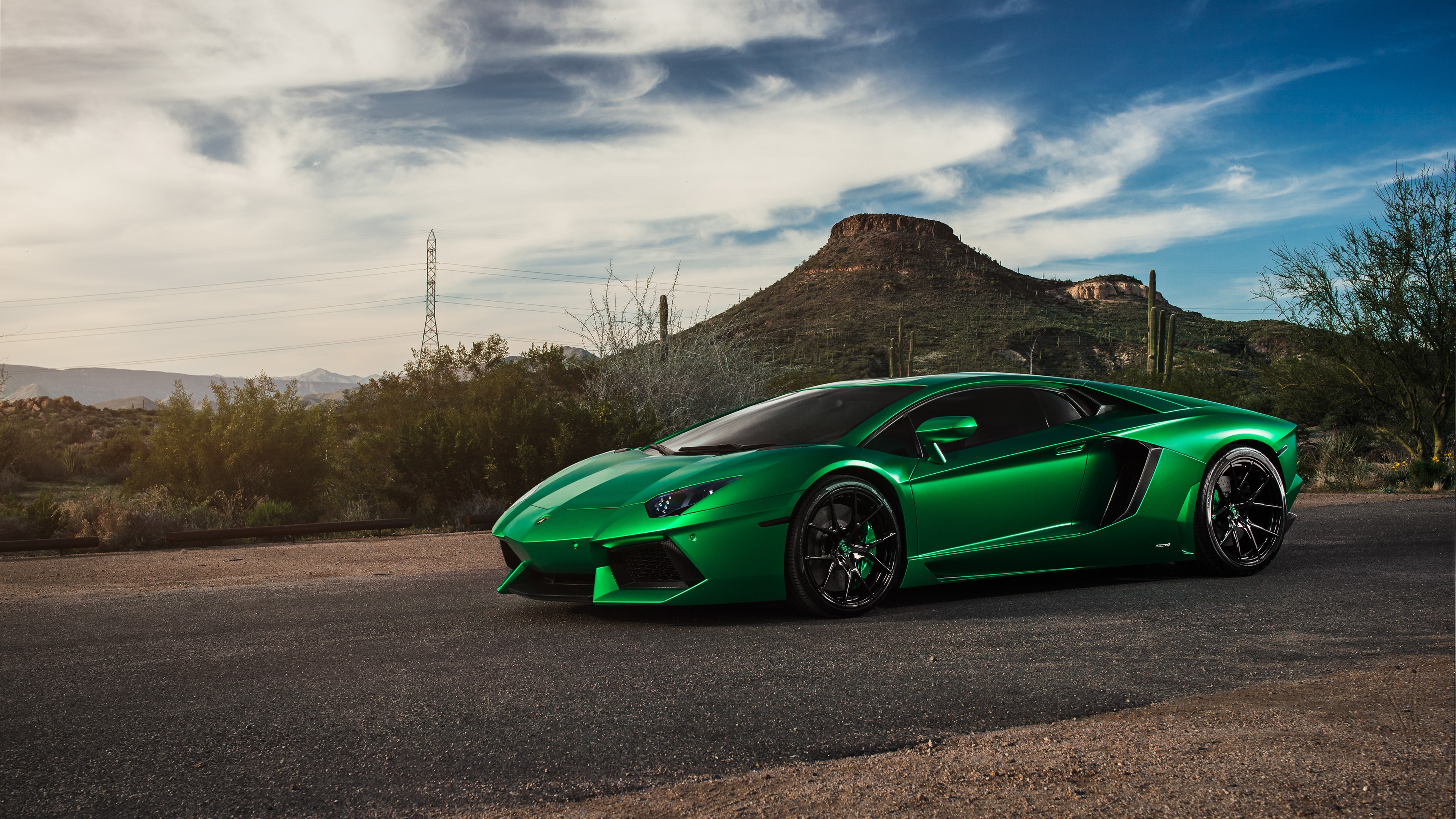 Lamborghini aventador green 4k hd cars 4k wallpapers - Wallpaper hd 4k car ...