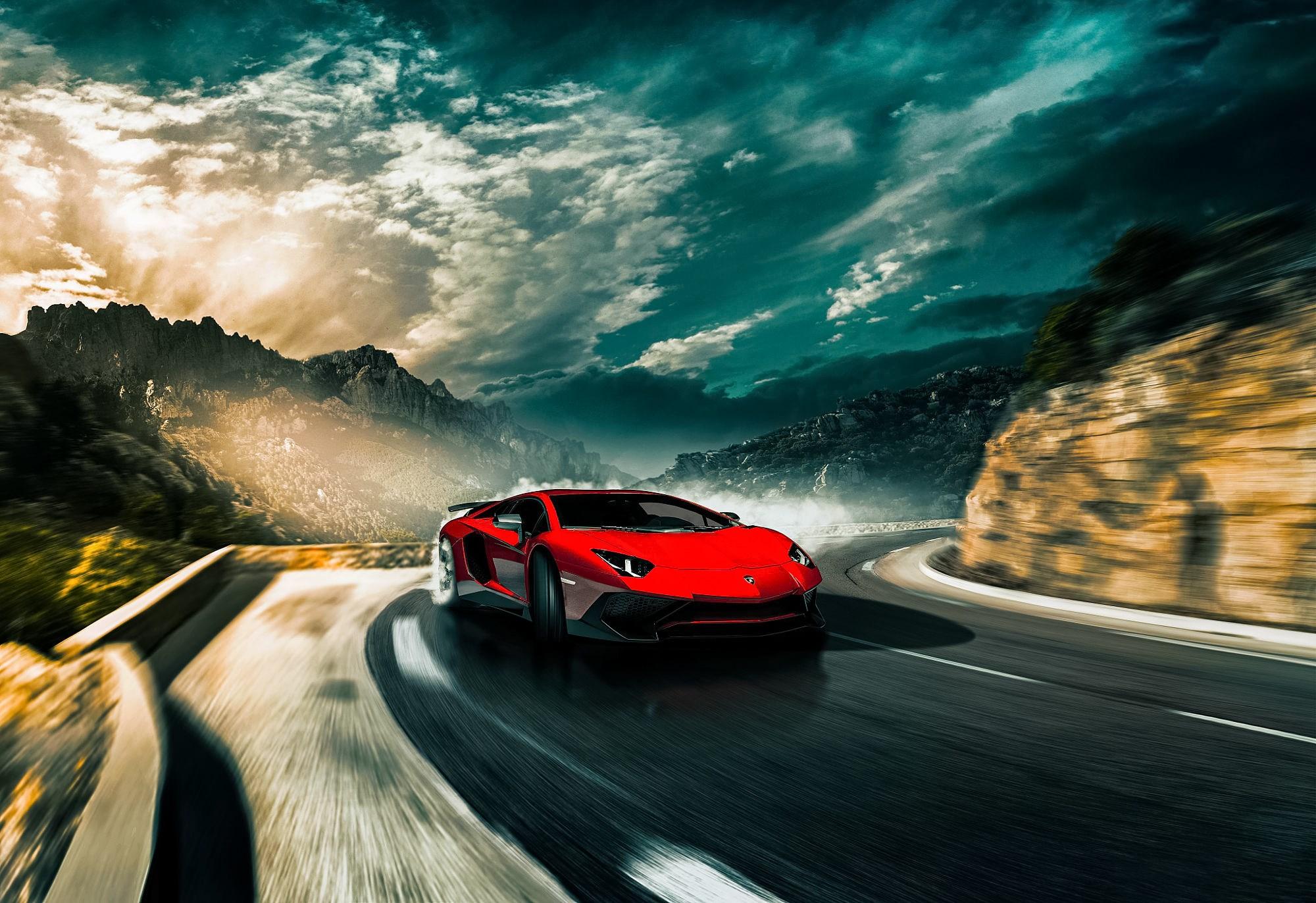 lamborghini aventador sv drifting hd cars 4k wallpapers images