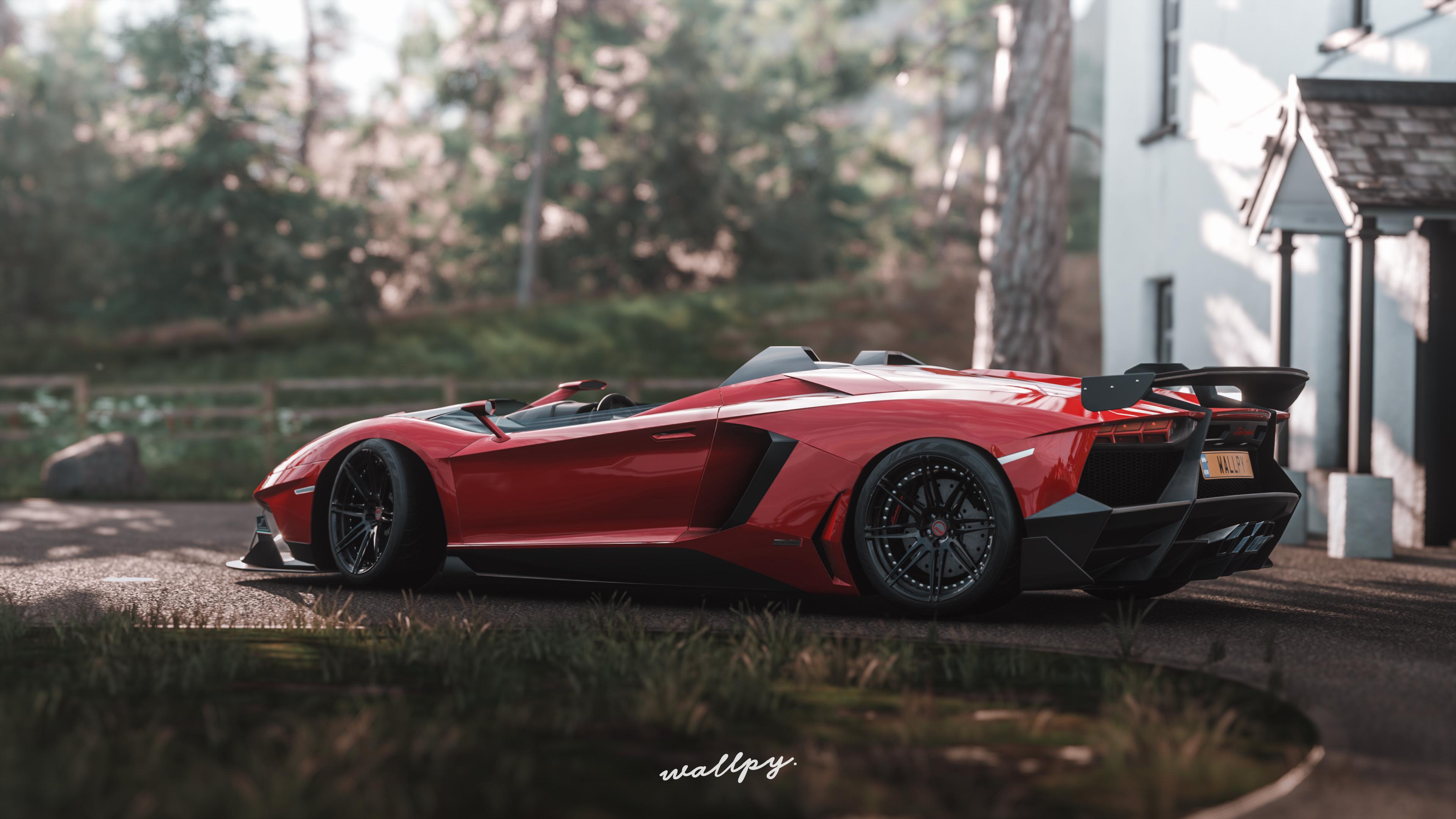 Forza Horizon 4 Wallpaper: Lamborghini Aventador Sv Forza Horizon 4k, HD Games, 4k