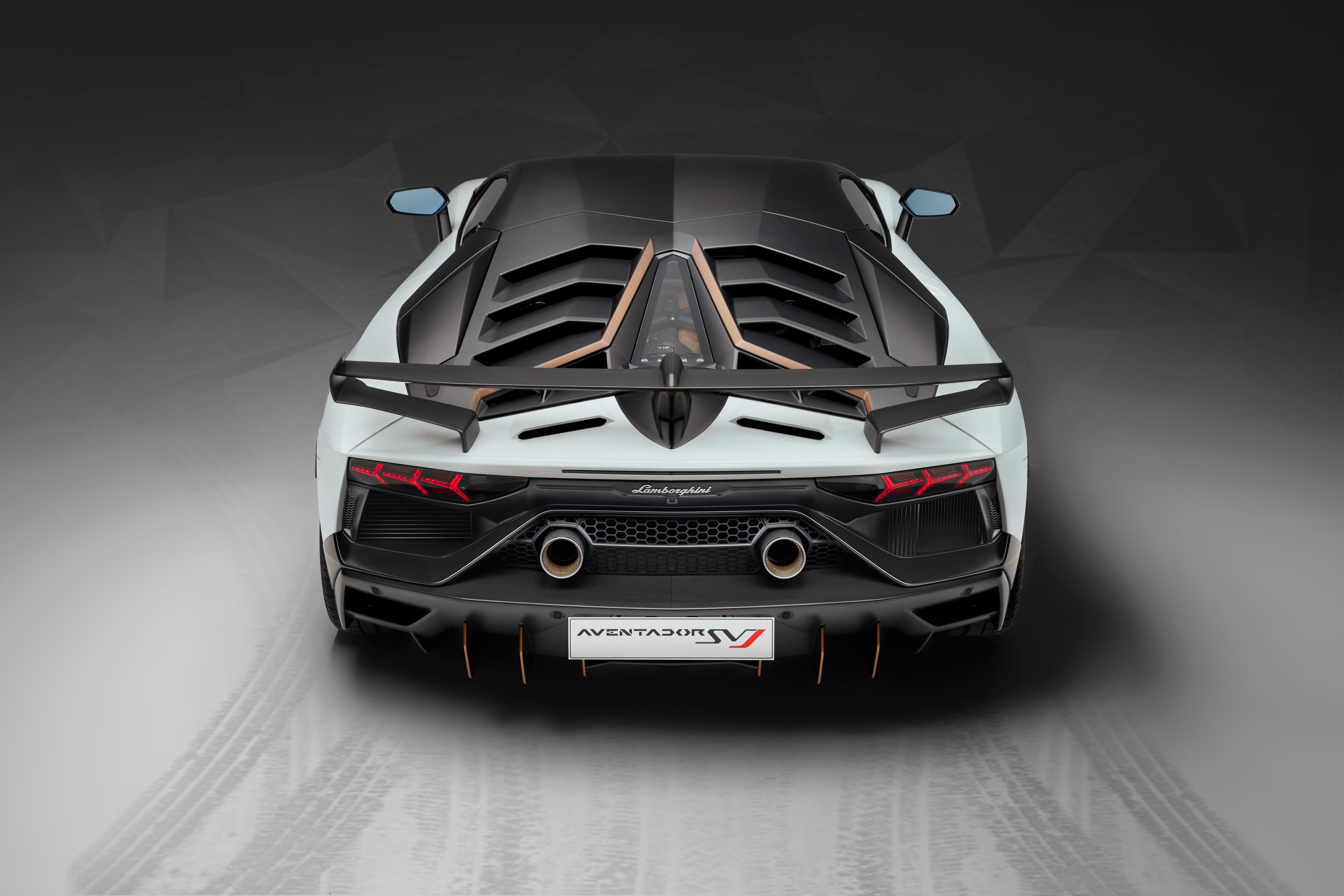 Lamborghini Aventador Svj 63 2018 Rear View Hd Cars 4k