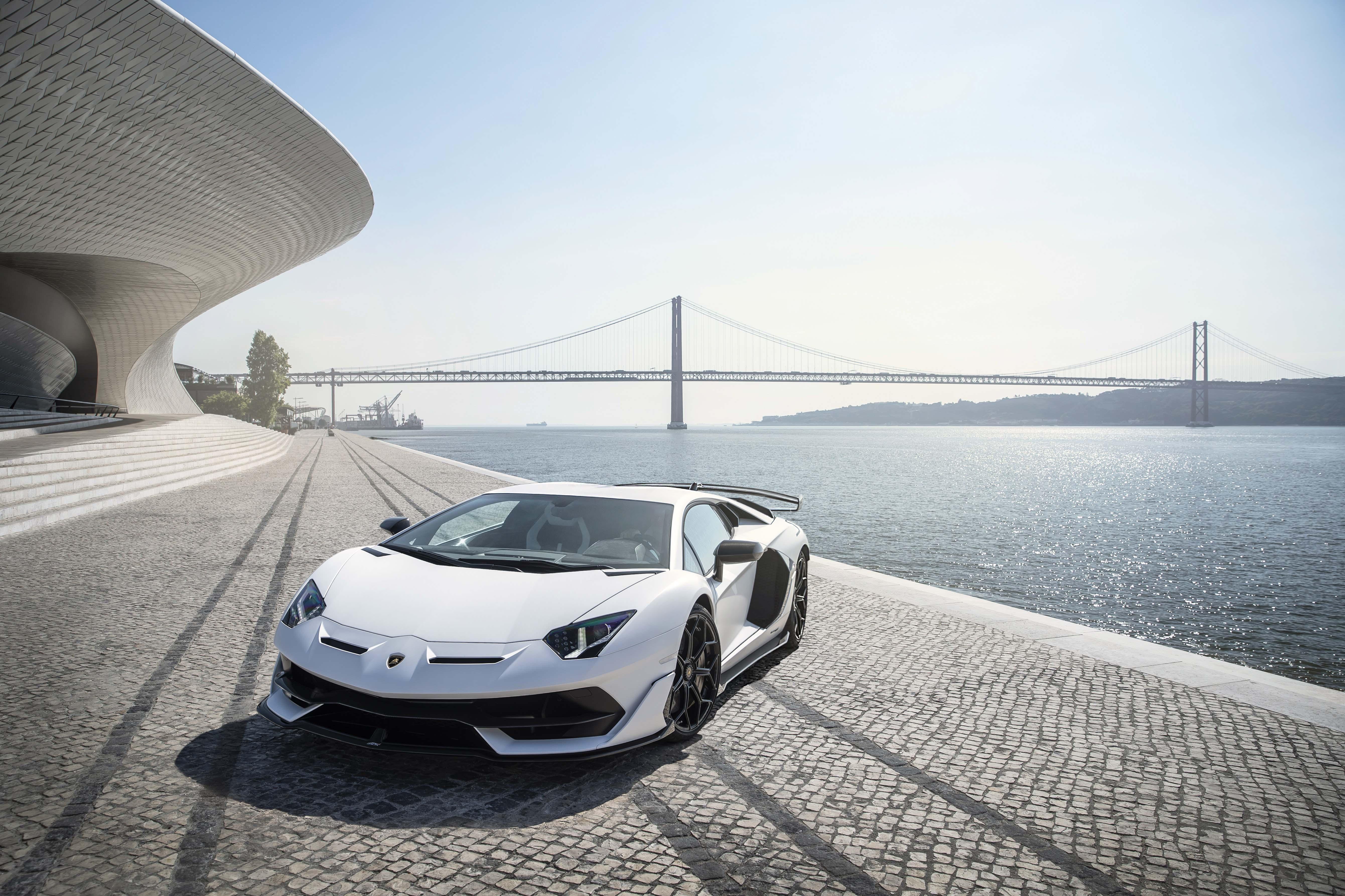 Lamborghini Aventador Svj White Lisbon 5k Hd Cars 4k