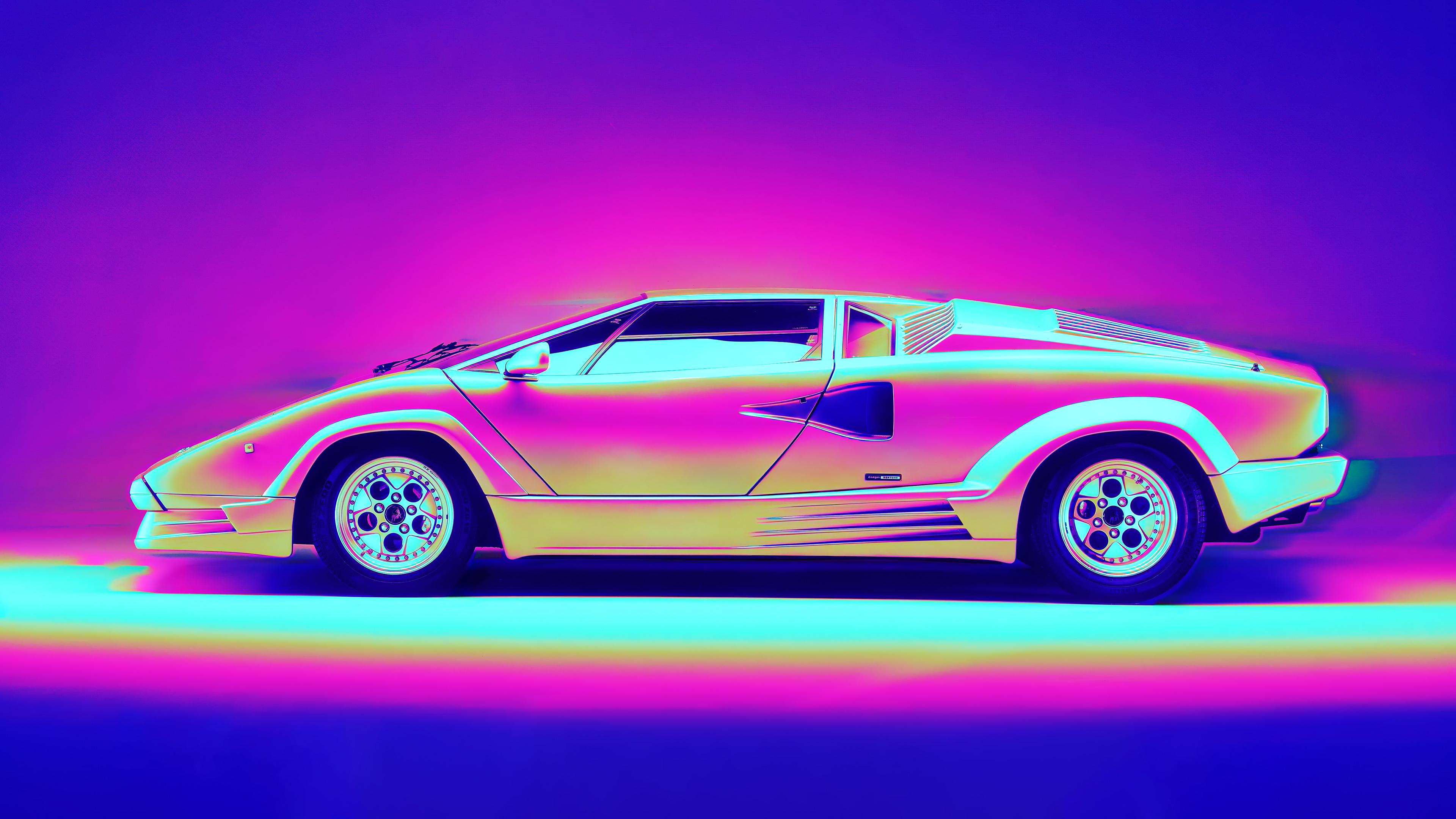 Lamborghini Countach Retro Artwork 4k Hd Cars 4k Wallpapers