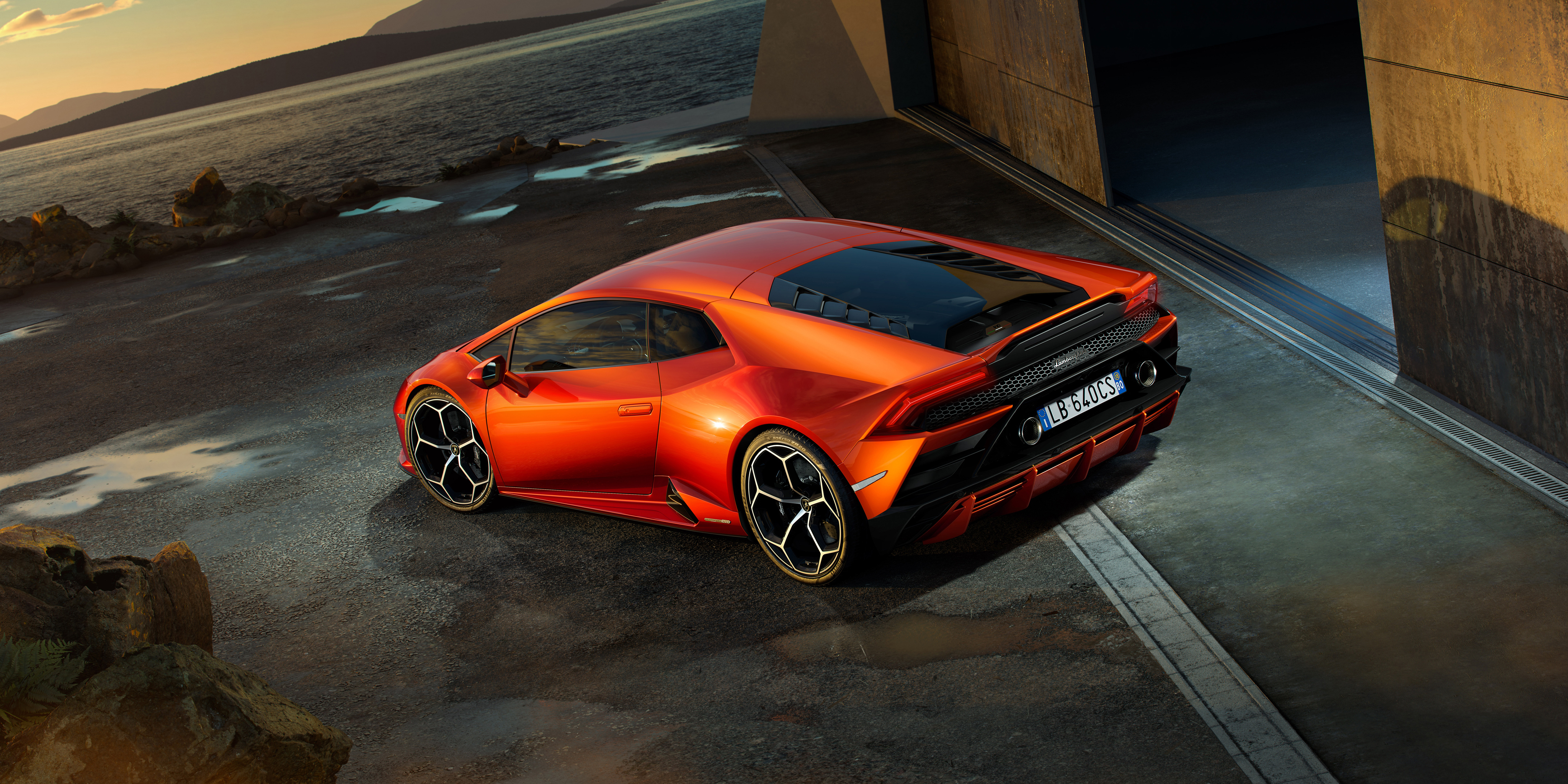 lamborghini huracan evo 2019 rear 4k hd cars 4k wallpapers images backgrounds photos and. Black Bedroom Furniture Sets. Home Design Ideas