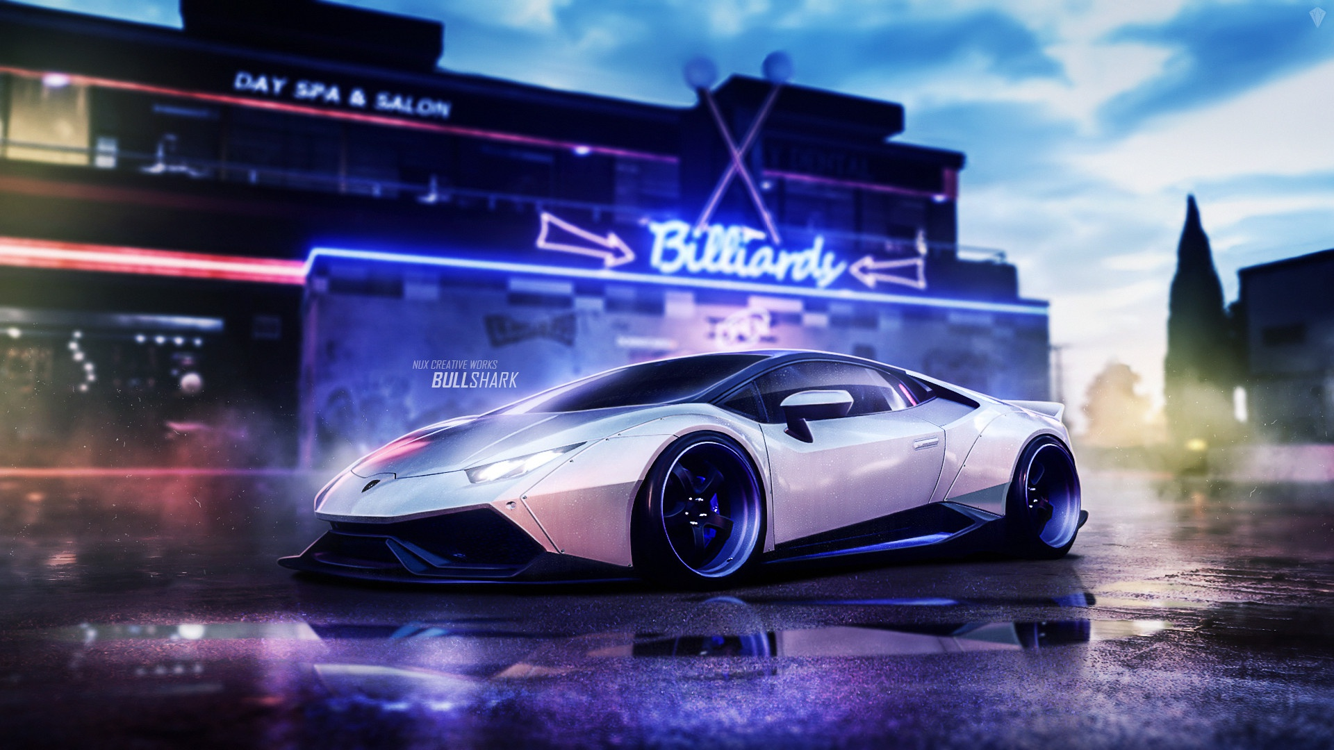 Lamborghini Huracan Liberty Walk, HD Cars, 4k Wallpapers