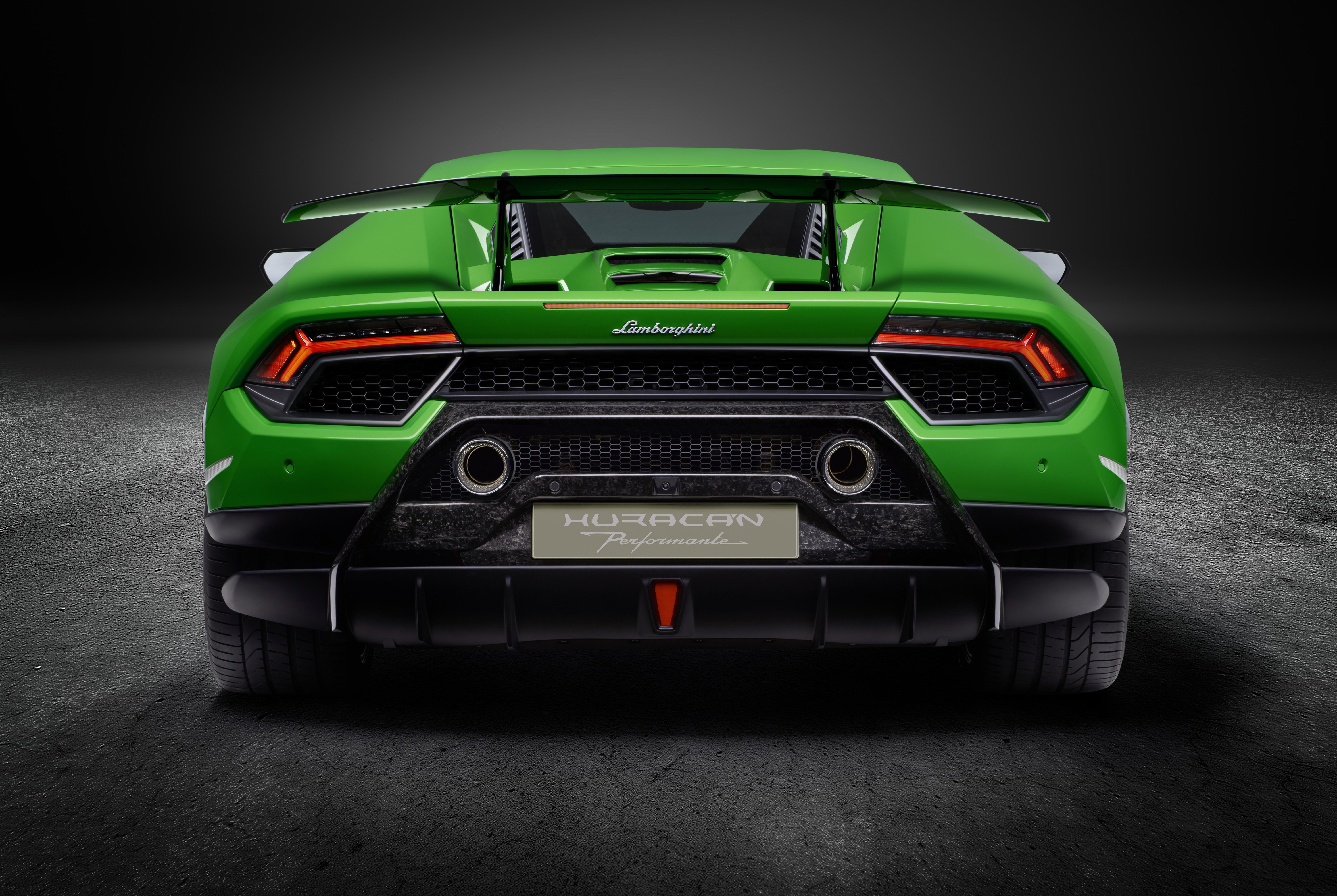 Lamborghini Huracan Performante 2019 Rear View Hd Cars 4k