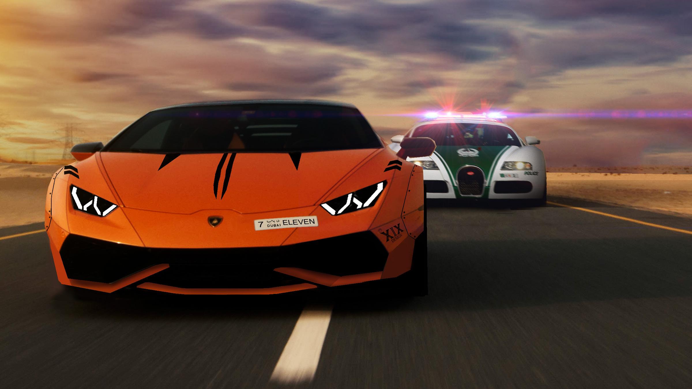 Lamborghini Robber And Bugatti Cop Hd Cars 4k Wallpapers Images