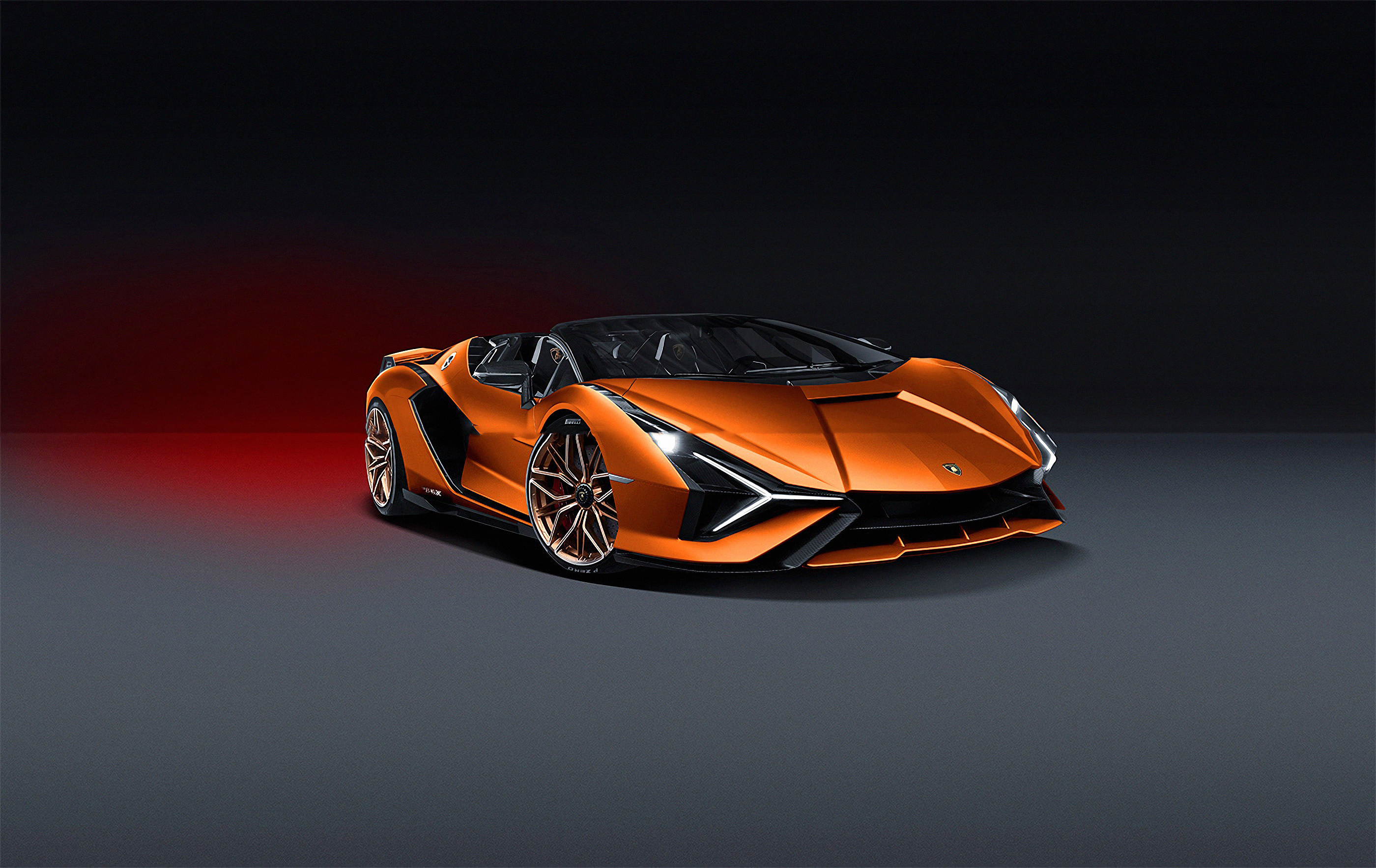 Lamborghini Sian 2019 Front View 4k, HD Cars, 4k Wallpapers