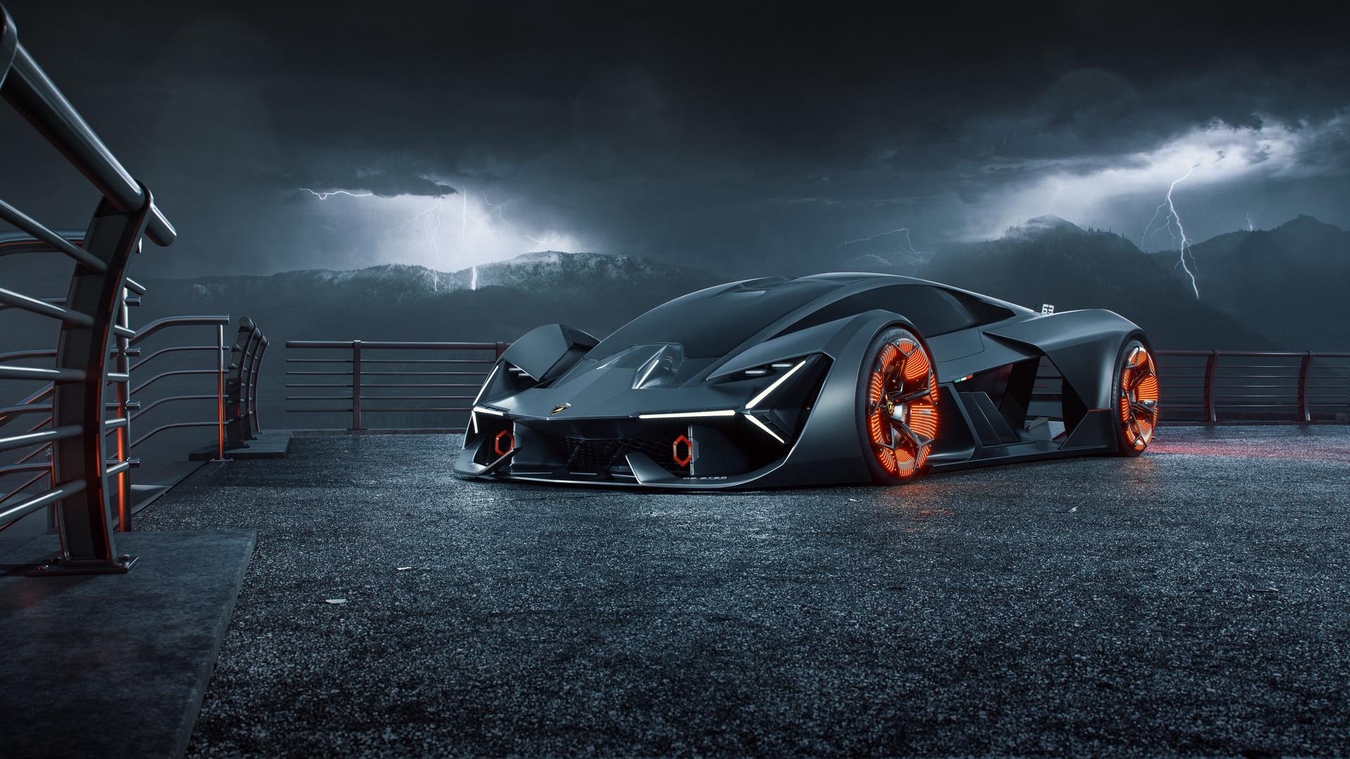 Lamborghini Terzo Millennio Digital Art 2019