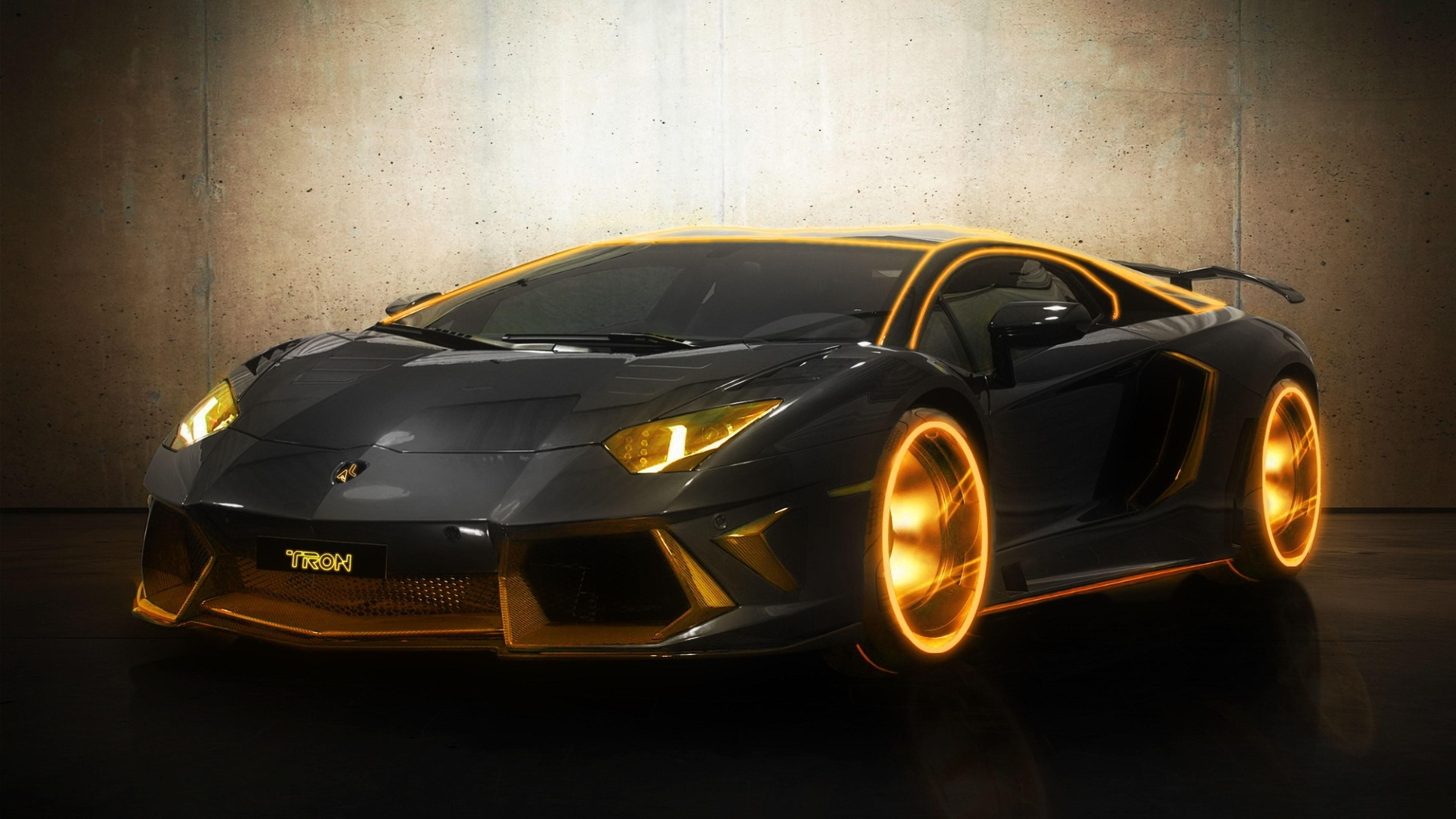 Lamborghini Aventador Car 4k Hd Desktop Wallpaper For 4k: Lamborghini Tron Gold, HD Cars, 4k Wallpapers, Images