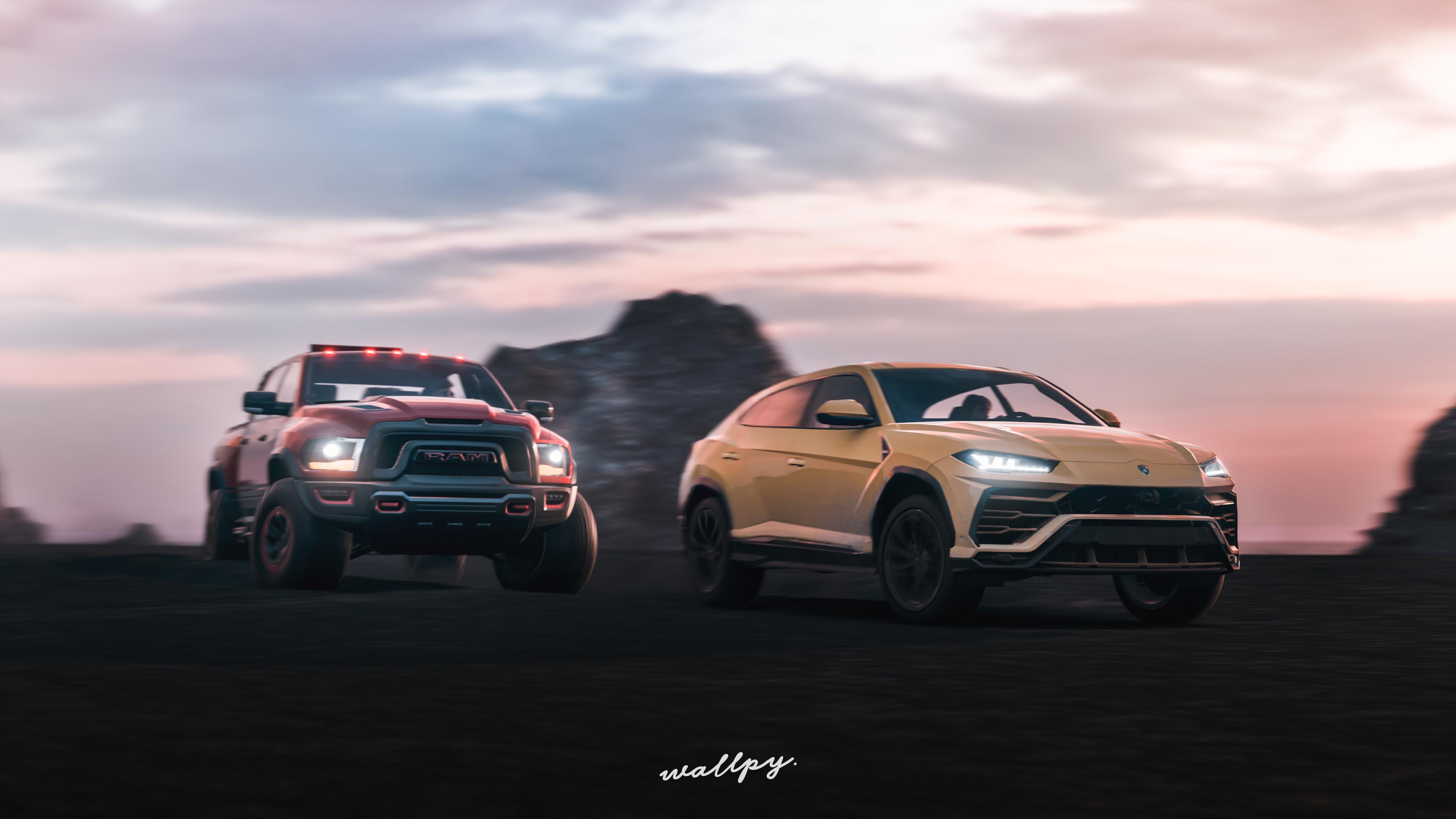 Lamborghini Urus And Ram 4k Hd Cars 4k Wallpapers Images