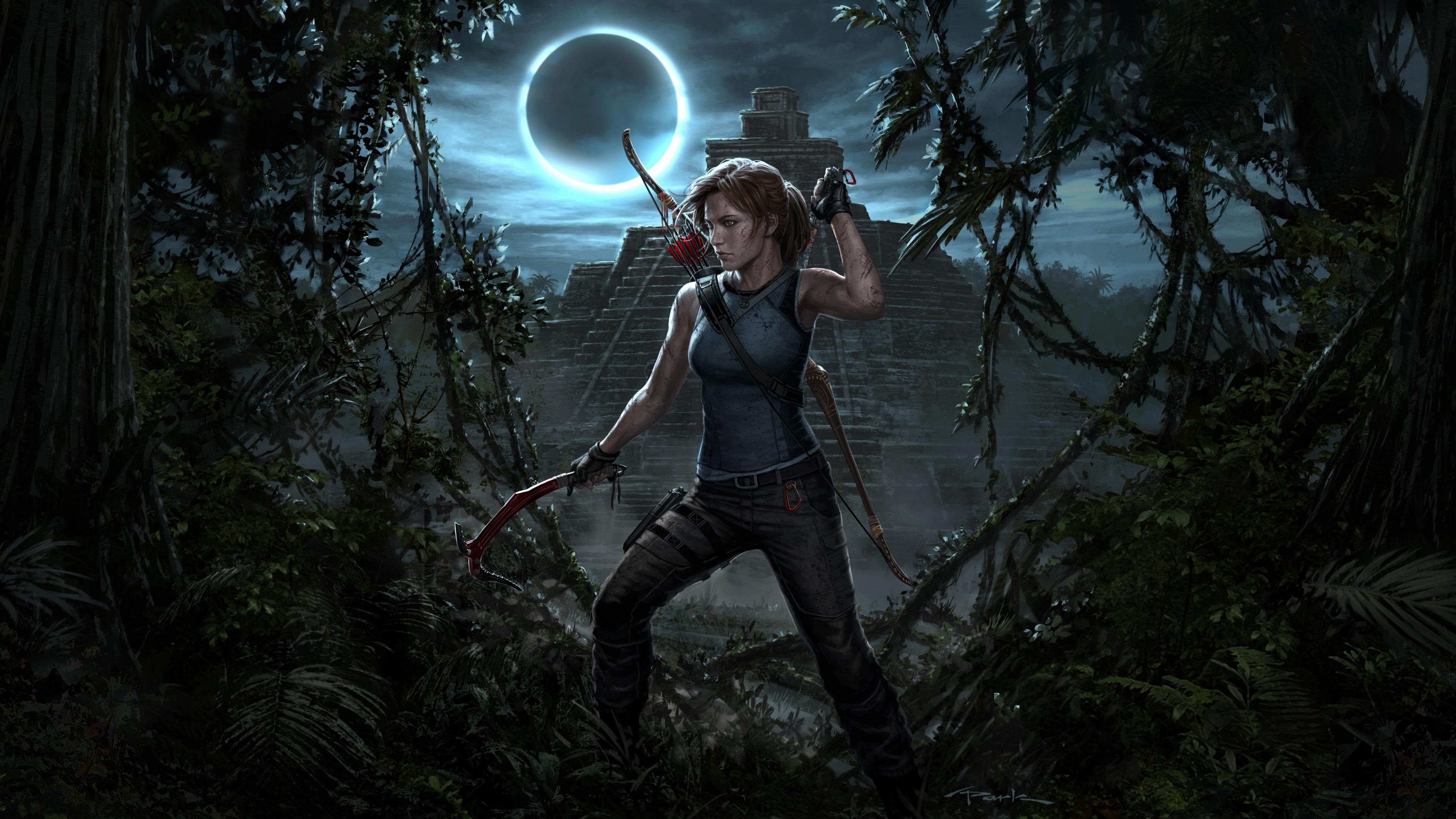 3840x2160 Lara Croft Tomb Raider Artwork 4k Hd 4k: Lara Croft Shadow Of The Tomb Raider 4k, HD Games, 4k