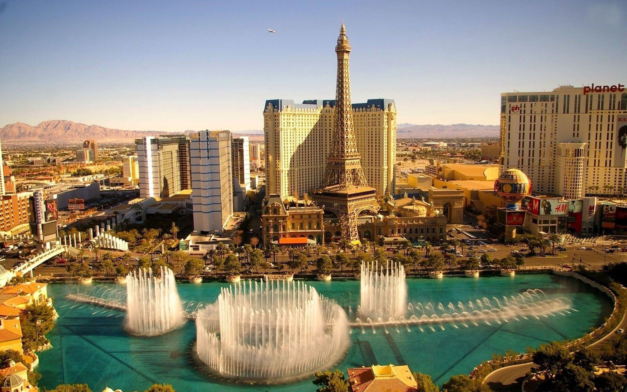 Las Vegas Fountains Hd World 4k Wallpapers Images