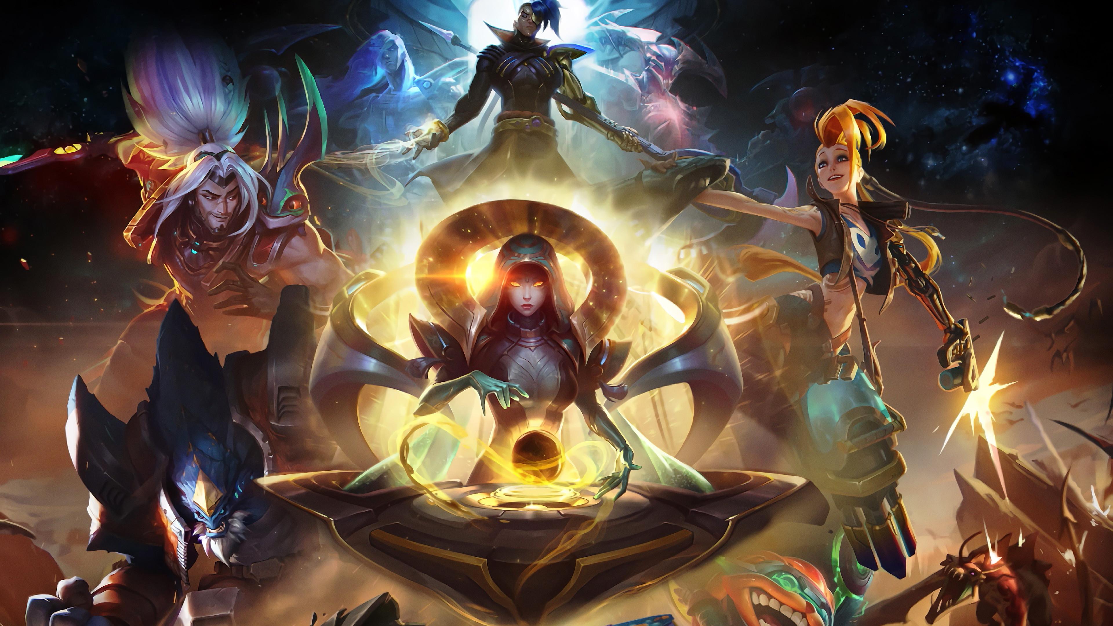 Wallpaper Untuk Legends Mobile Hd 4k For Android: League Of Legends Jinx Malphite Kayn Yasuosona Ziggs 4k