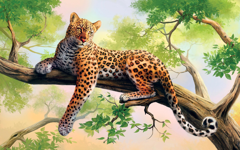 Digital Leopard Art Wallpapers: Leopard Art HD, HD Animals, 4k Wallpapers, Images