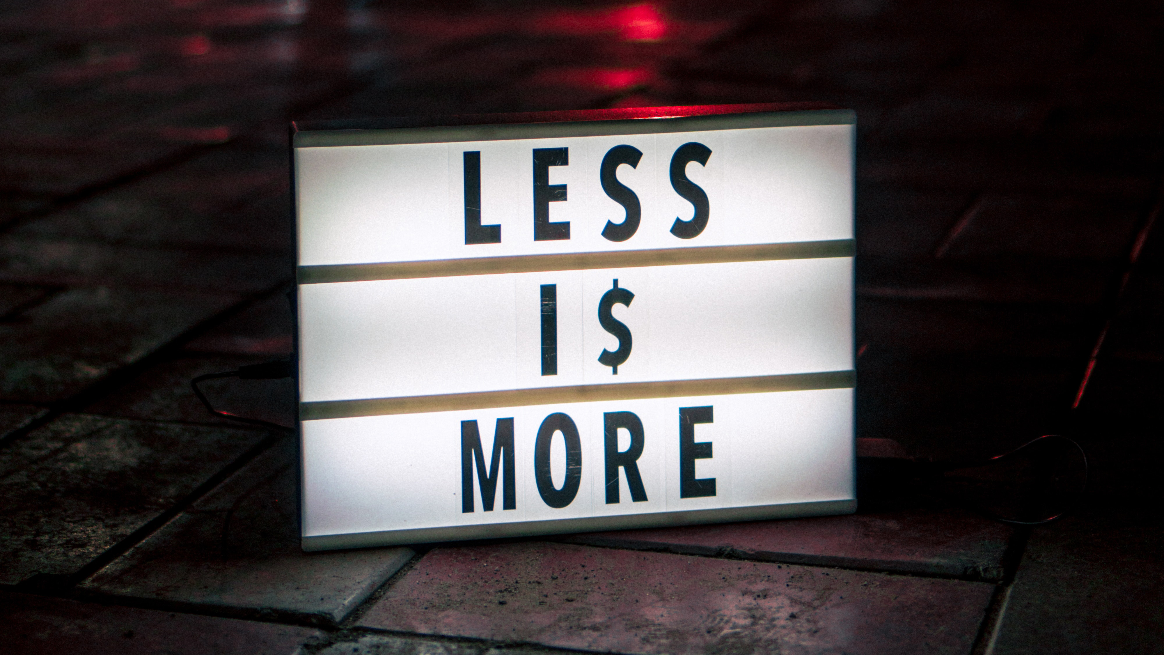Less Is More Hd Typography 4k Wallpapers Images