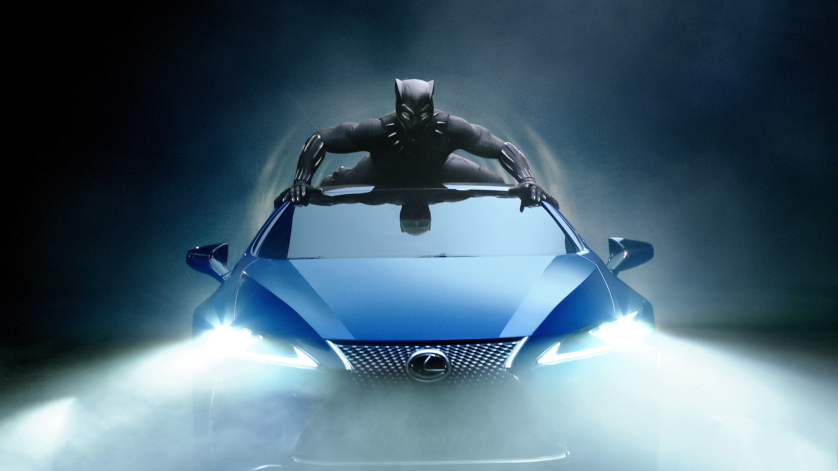 Black Panther 2018 Movie Still Full Hd Wallpaper: Lexus Black Panther LC 500 2018 Car, HD Movies, 4k
