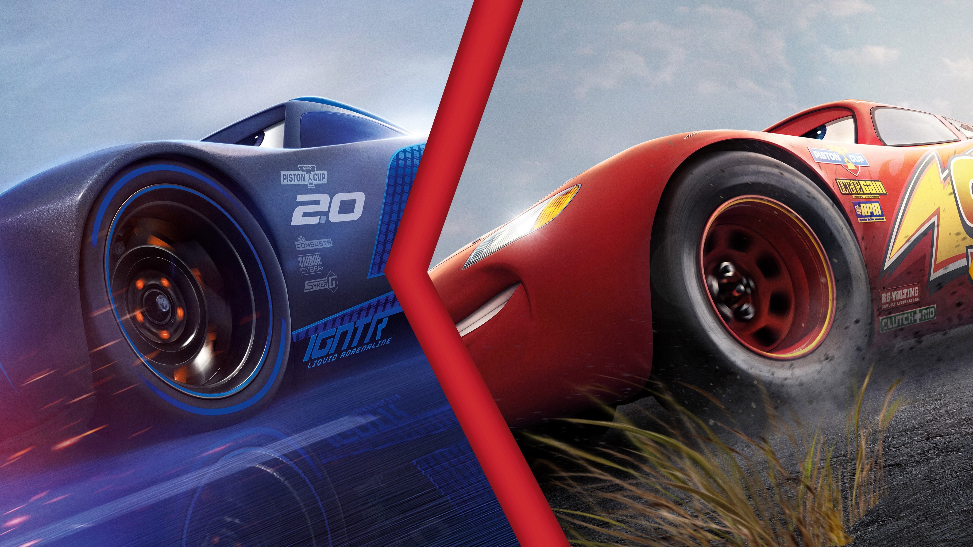 Lightning mcqueen vs jackson storm cars 3 4k hd movies - Cars 3 wallpaper ...
