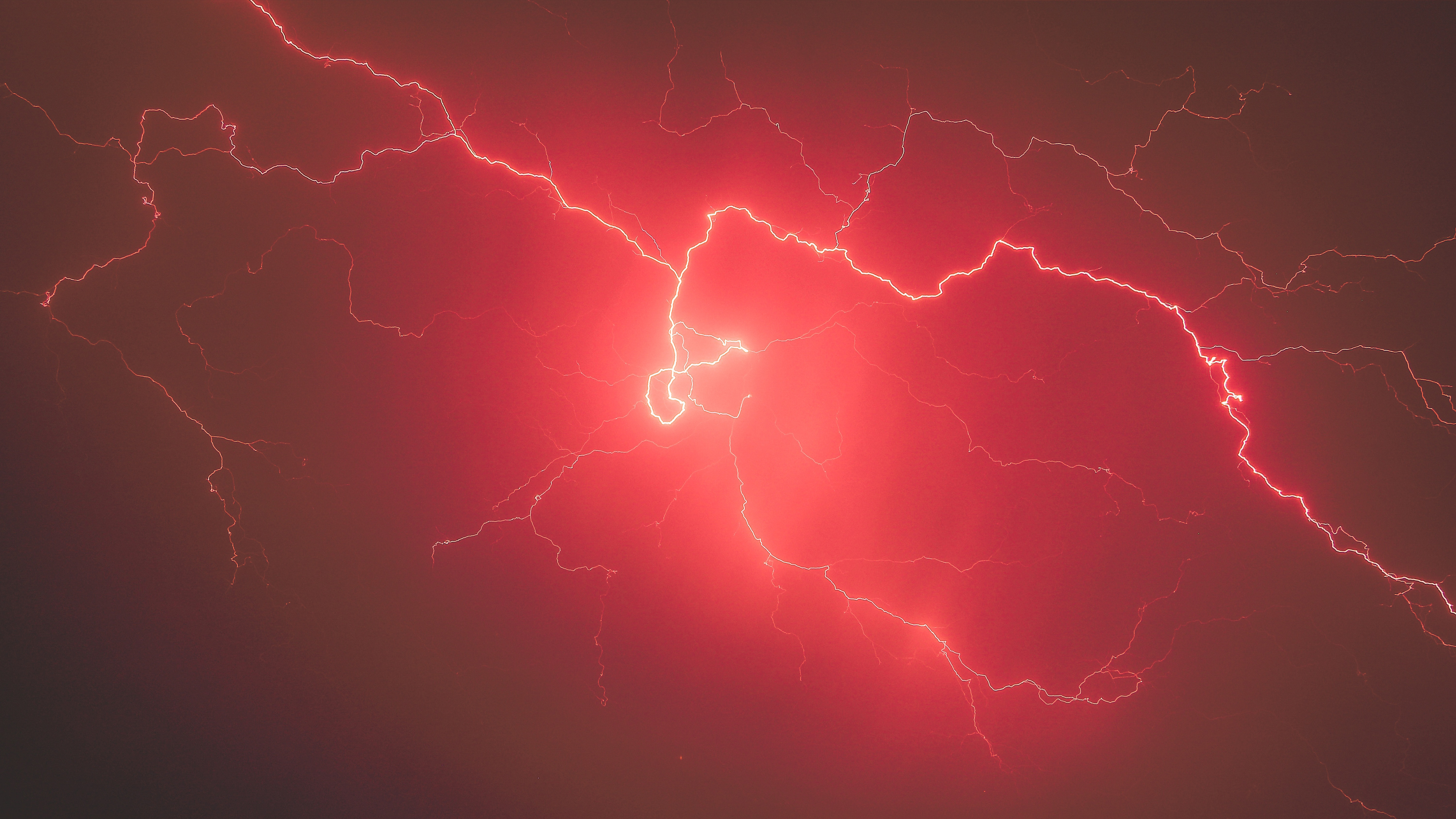 Lightning storm red sky 5k hd nature 4k wallpapers images backgrounds photos and pictures - Lightning wallpaper 4k ...