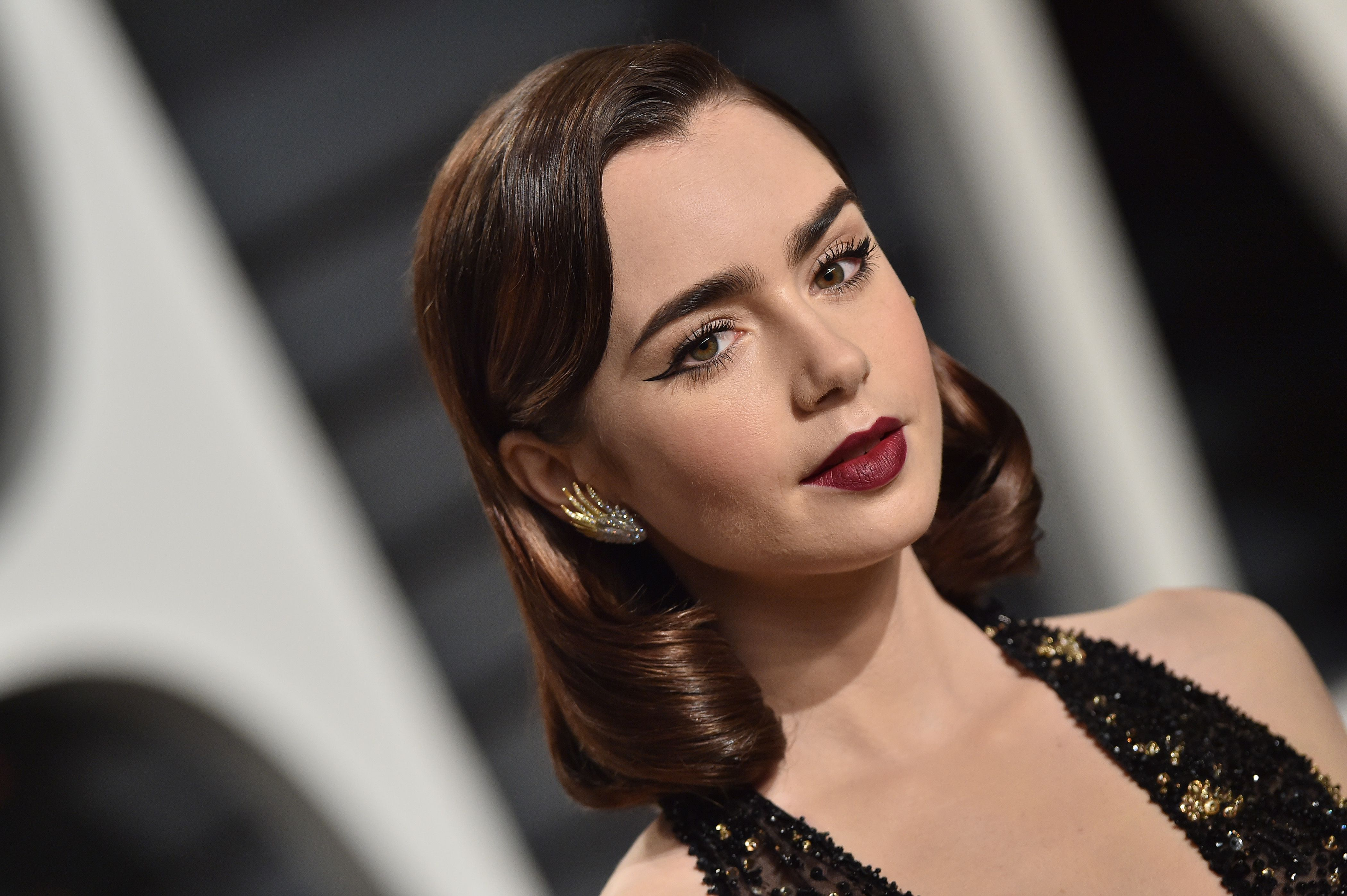 lily collins in 2017, hd celebrities, 4k wallpapers, images