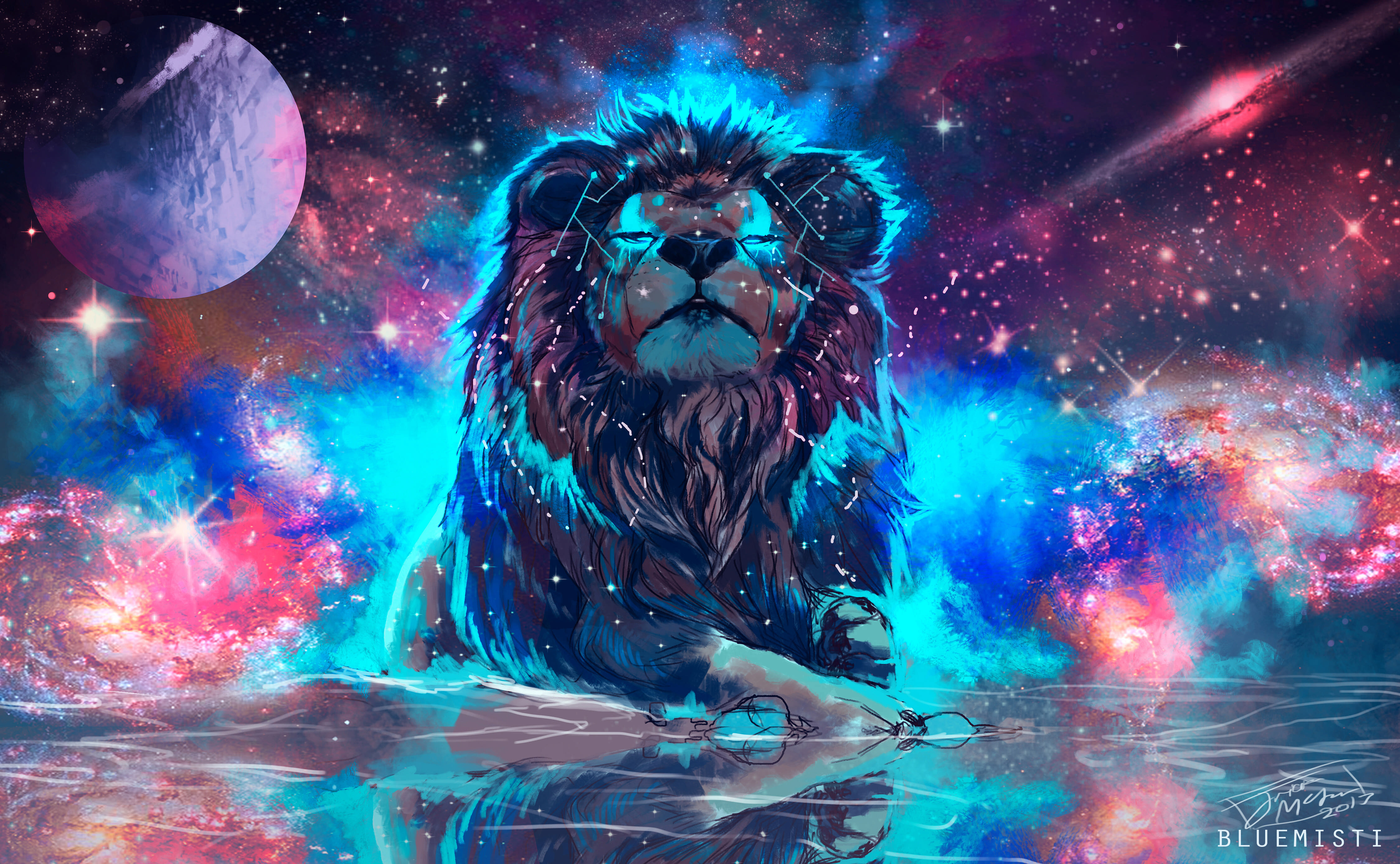 Lion 4k artistic colorful hd animals 4k wallpapers images backgrounds photos and pictures - 4k colorful wallpaper ...